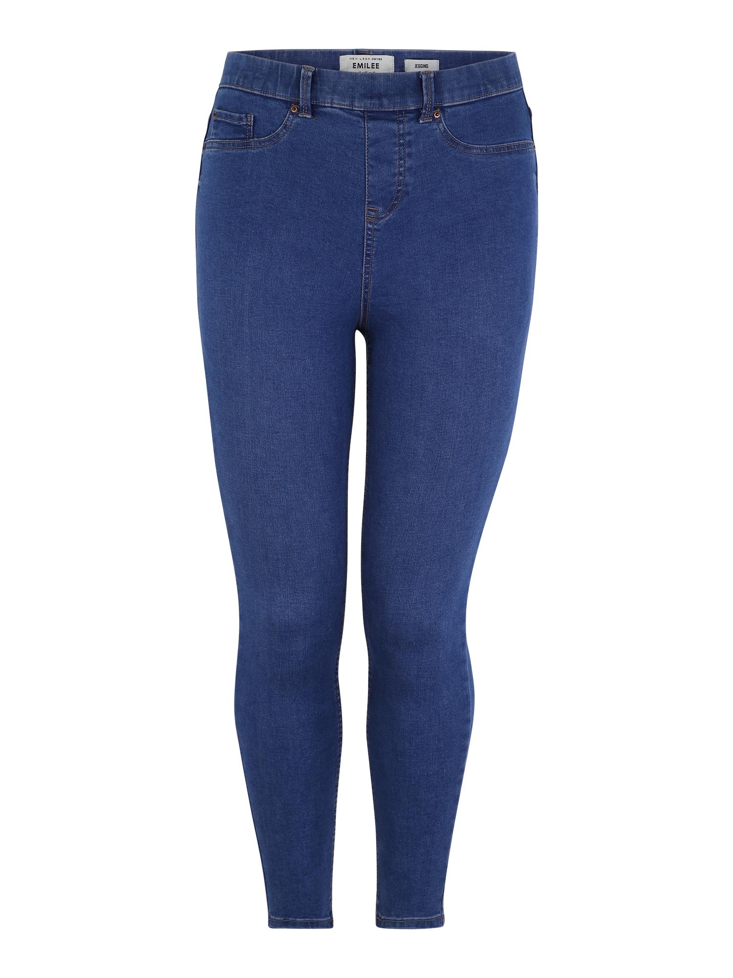 Jeggíny modrá džínovina New Look Curves