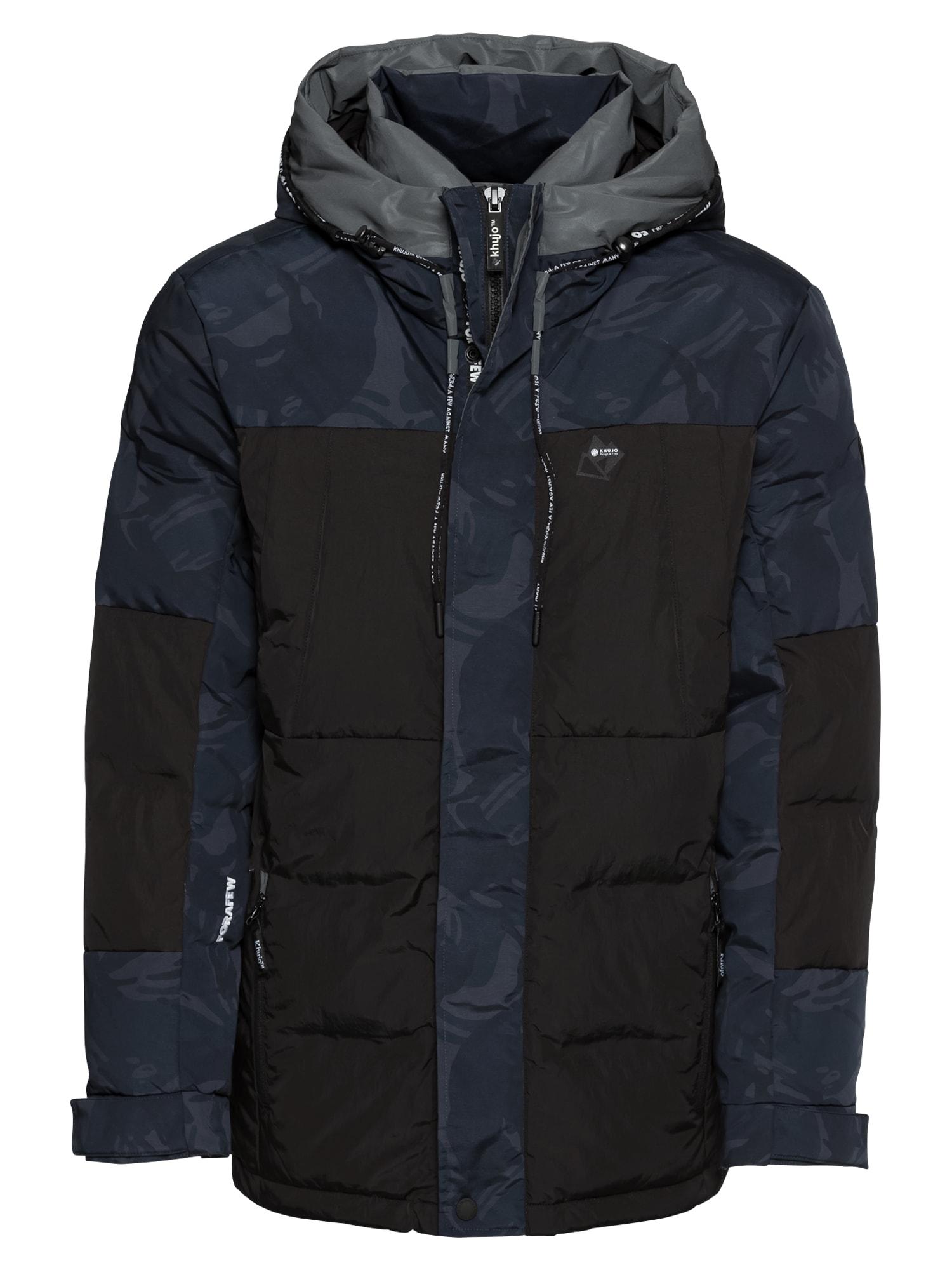 Khujo Zimní bunda 'STAR'  tmavě modrá / černá