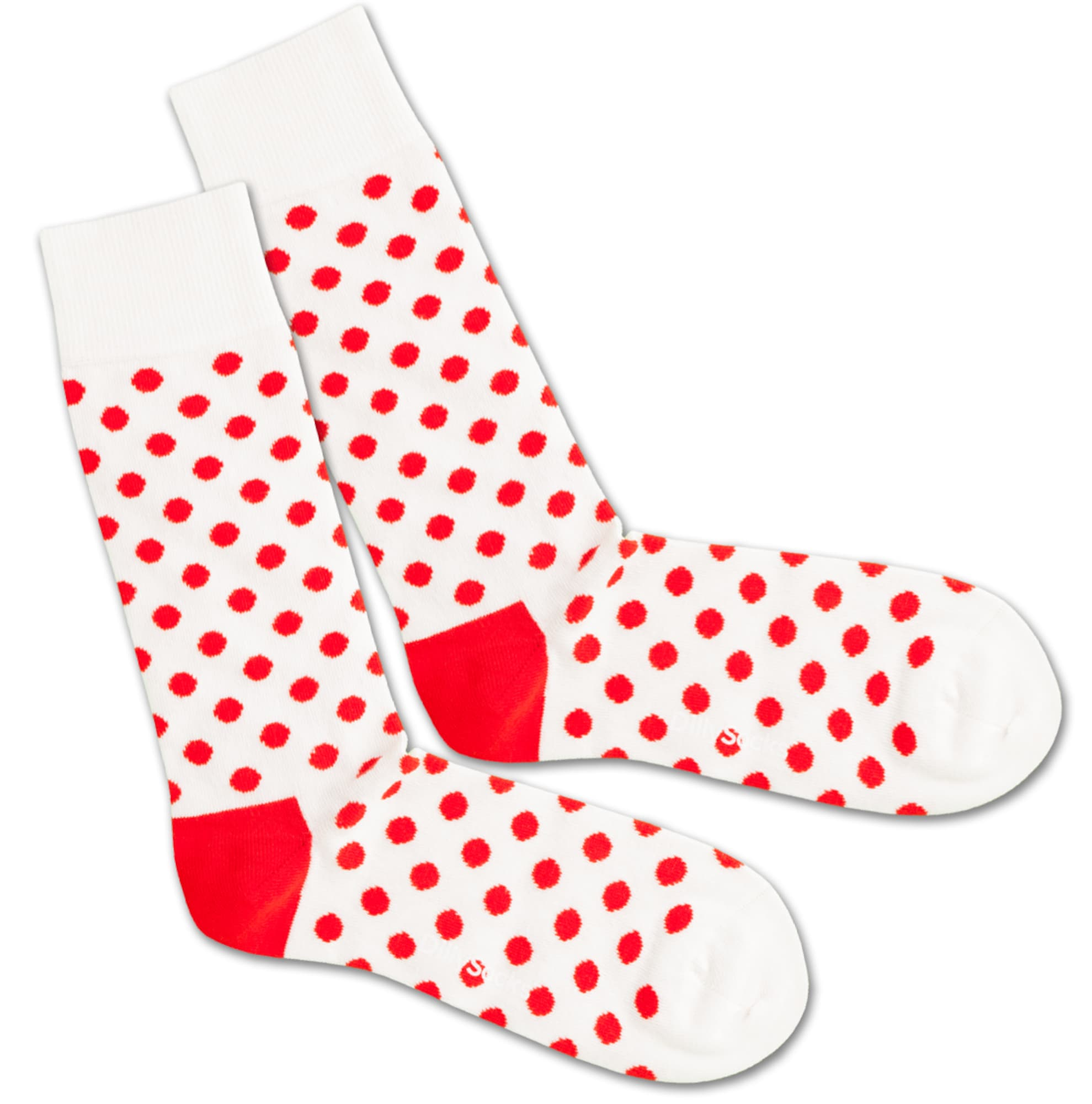Ponožky Bloody Snow Balls červená bílá DillySocks