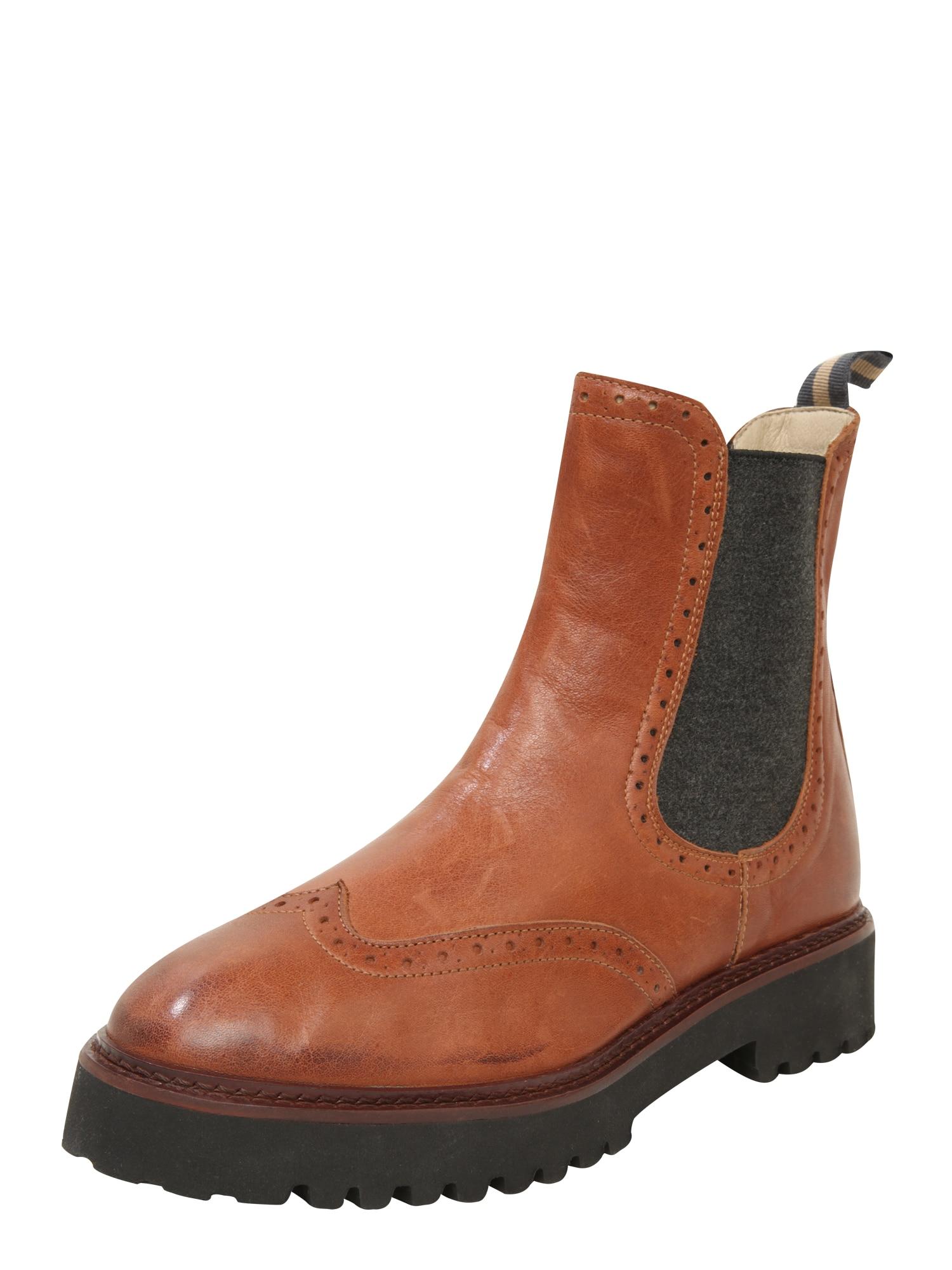 Marc OPolo Chelsea boty čokoládová koňaková bronzová Marc O'Polo