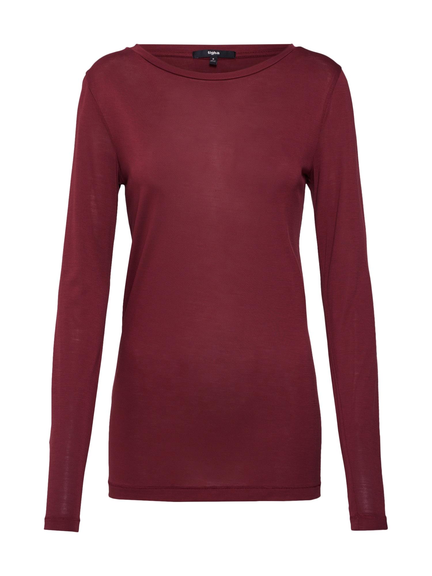 Tričko Lora vínově červená Tigha