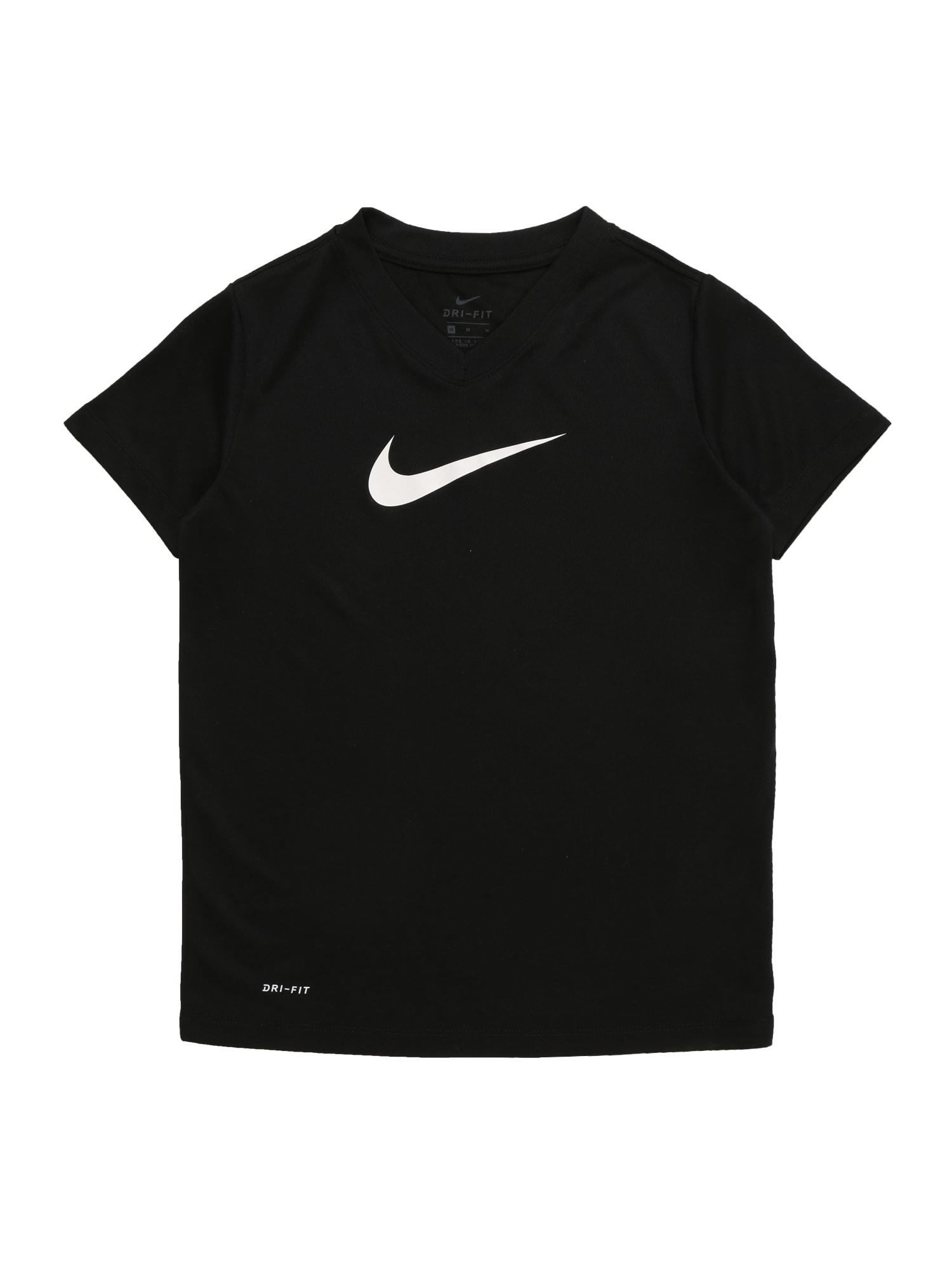 Funkční tričko G NK DRY TEE LEG VNECK SWOOSH černá NIKE