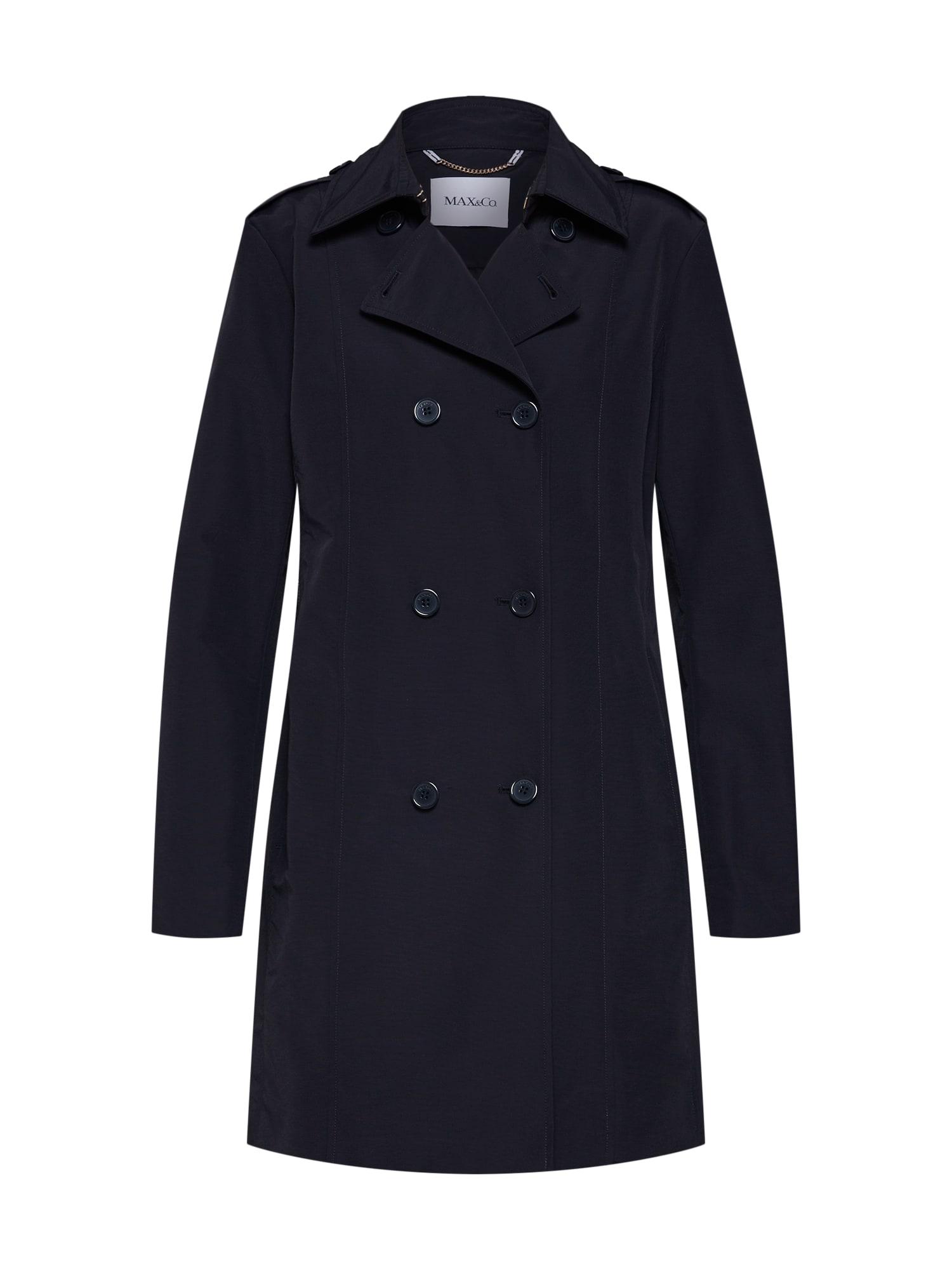 Přechodný kabát DEROGARE černá MAX&Co.