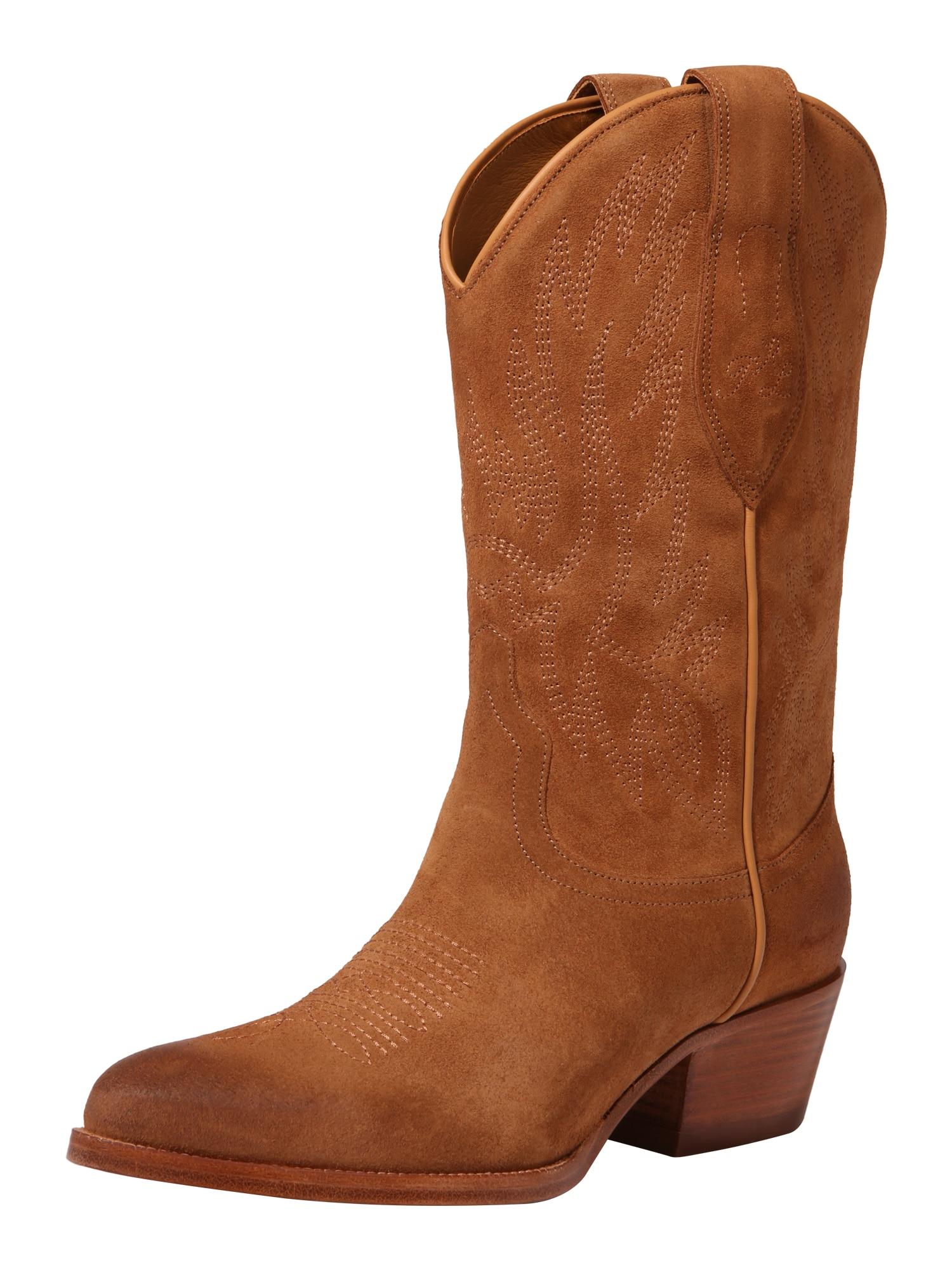 Kovbojské boty DAYNA-BOOTS-CASUAL koňaková POLO RALPH LAUREN