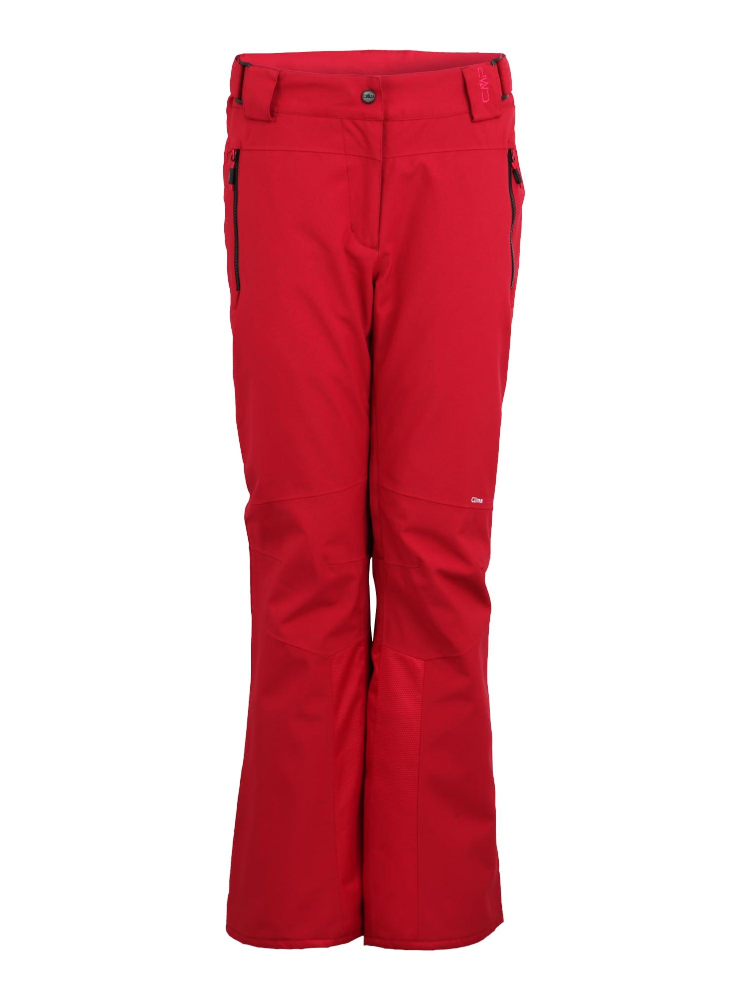 Sportovní kalhoty červená černá CMP