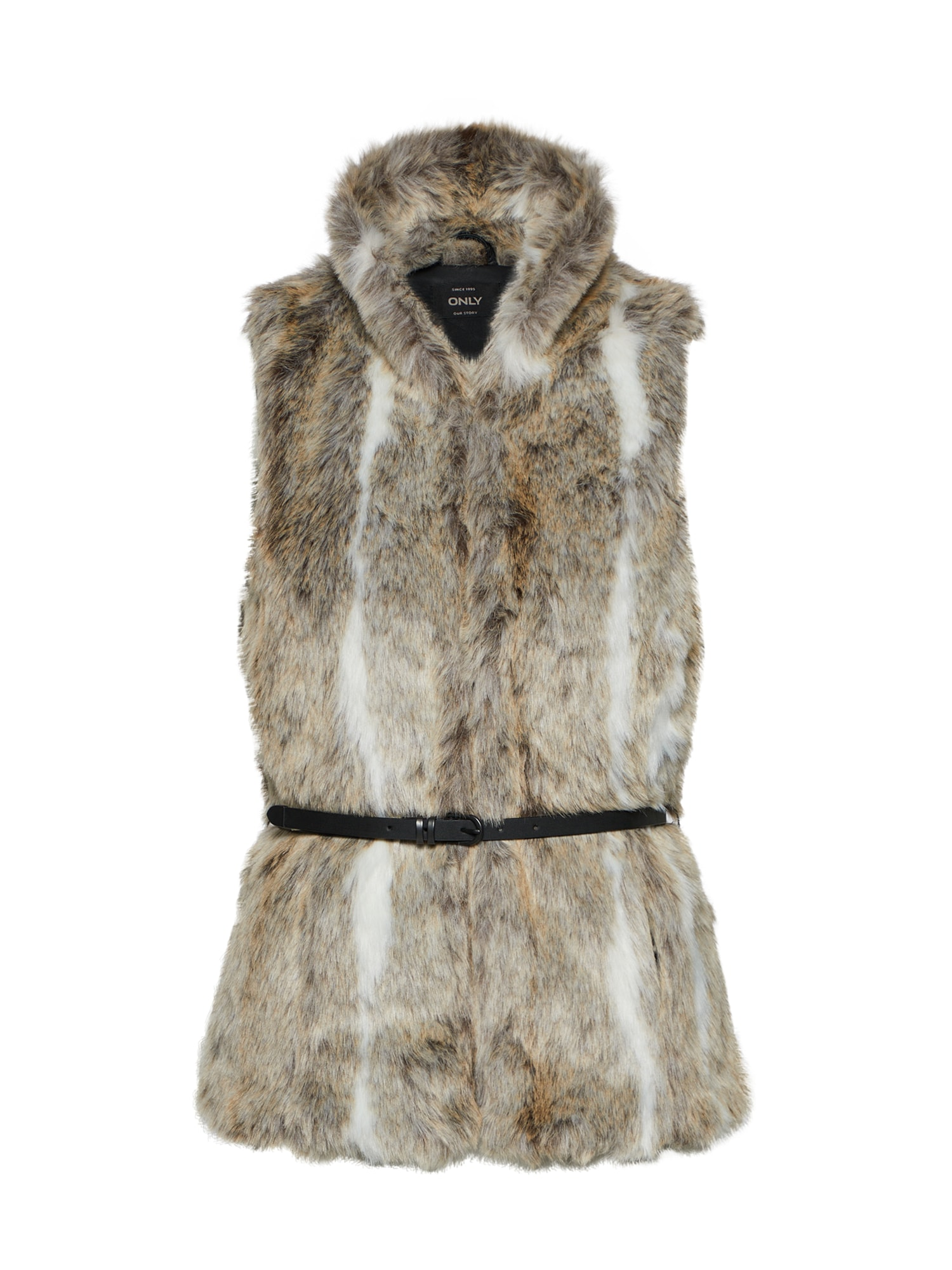 ONLY Faux Fur Gilet Dames Grijs