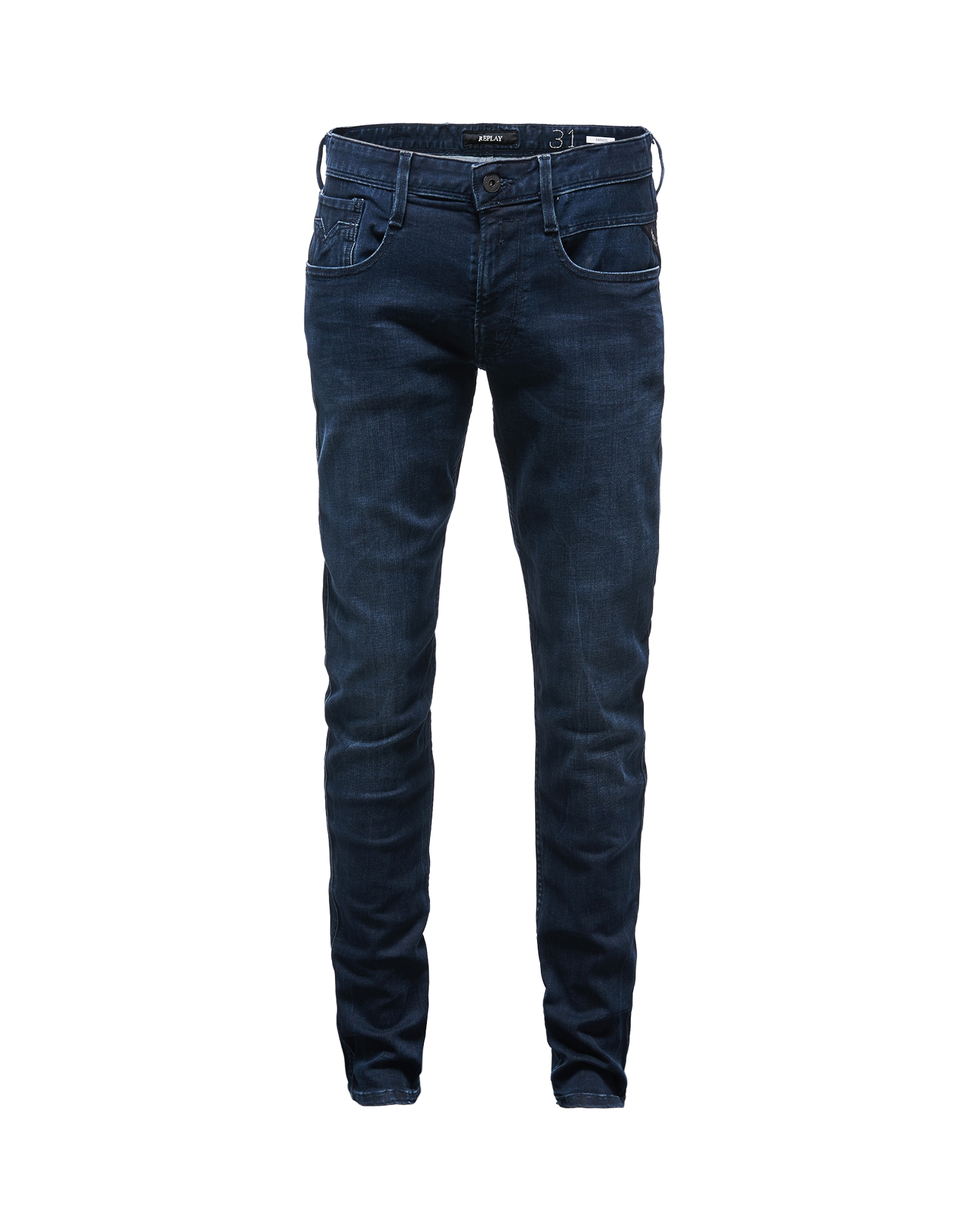 REPLAY Heren Jeans Anbass donkerblauw