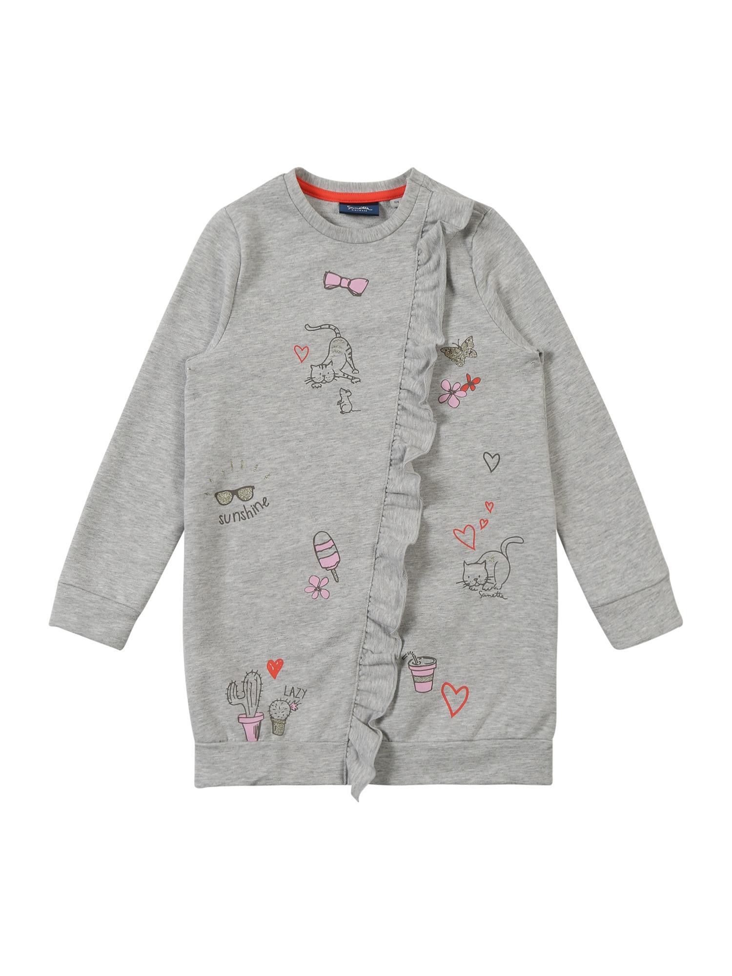 Šaty Dress šedý melír Sanetta Kidswear