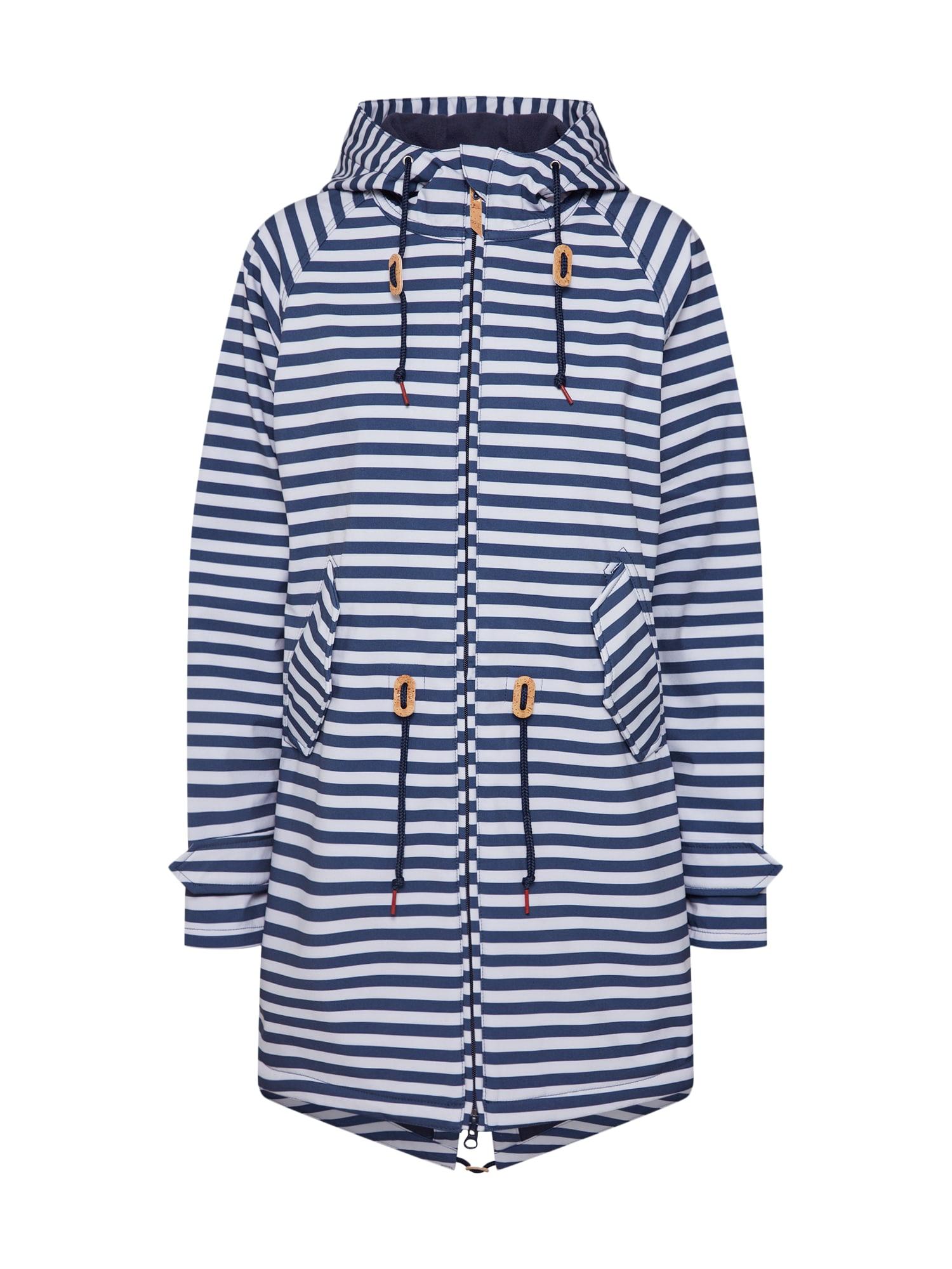 Přechodný kabát Island Friese modrá námořnická modř bílá Derbe