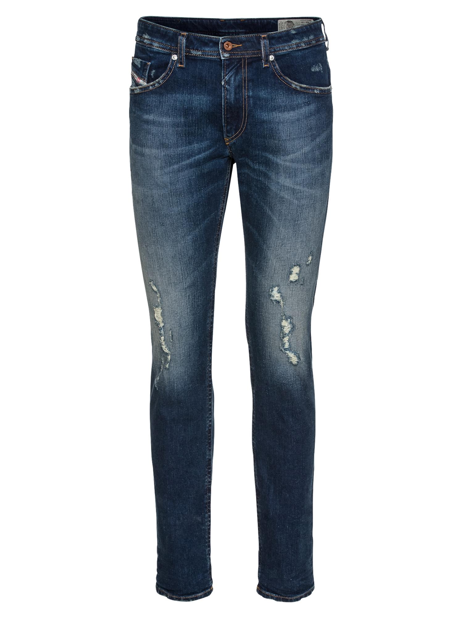 DIESEL Heren Jeans Thommer Skinny Fit 845F blauw denim