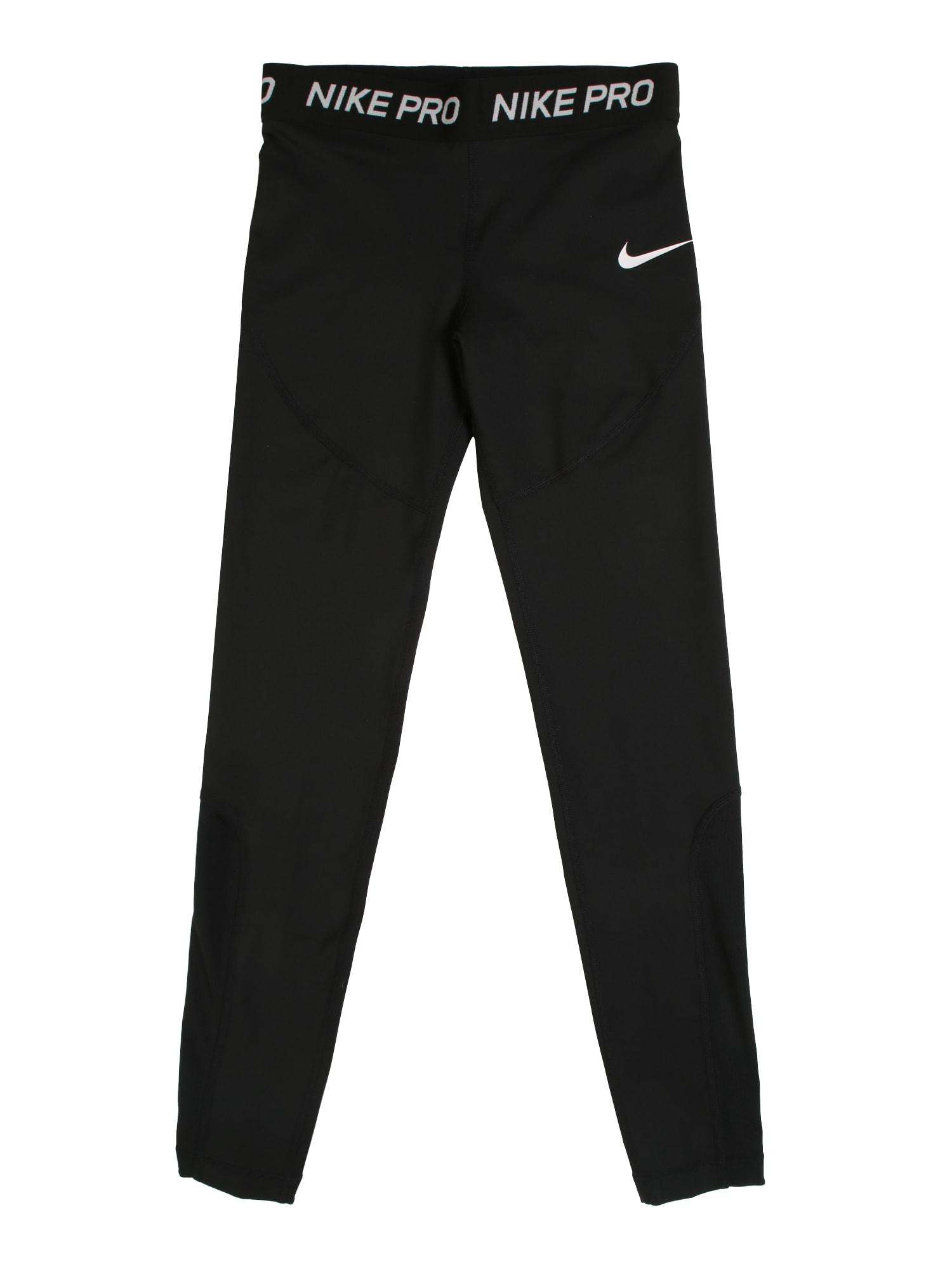 Sportovní kalhoty G NP TGHT černá bílá NIKE