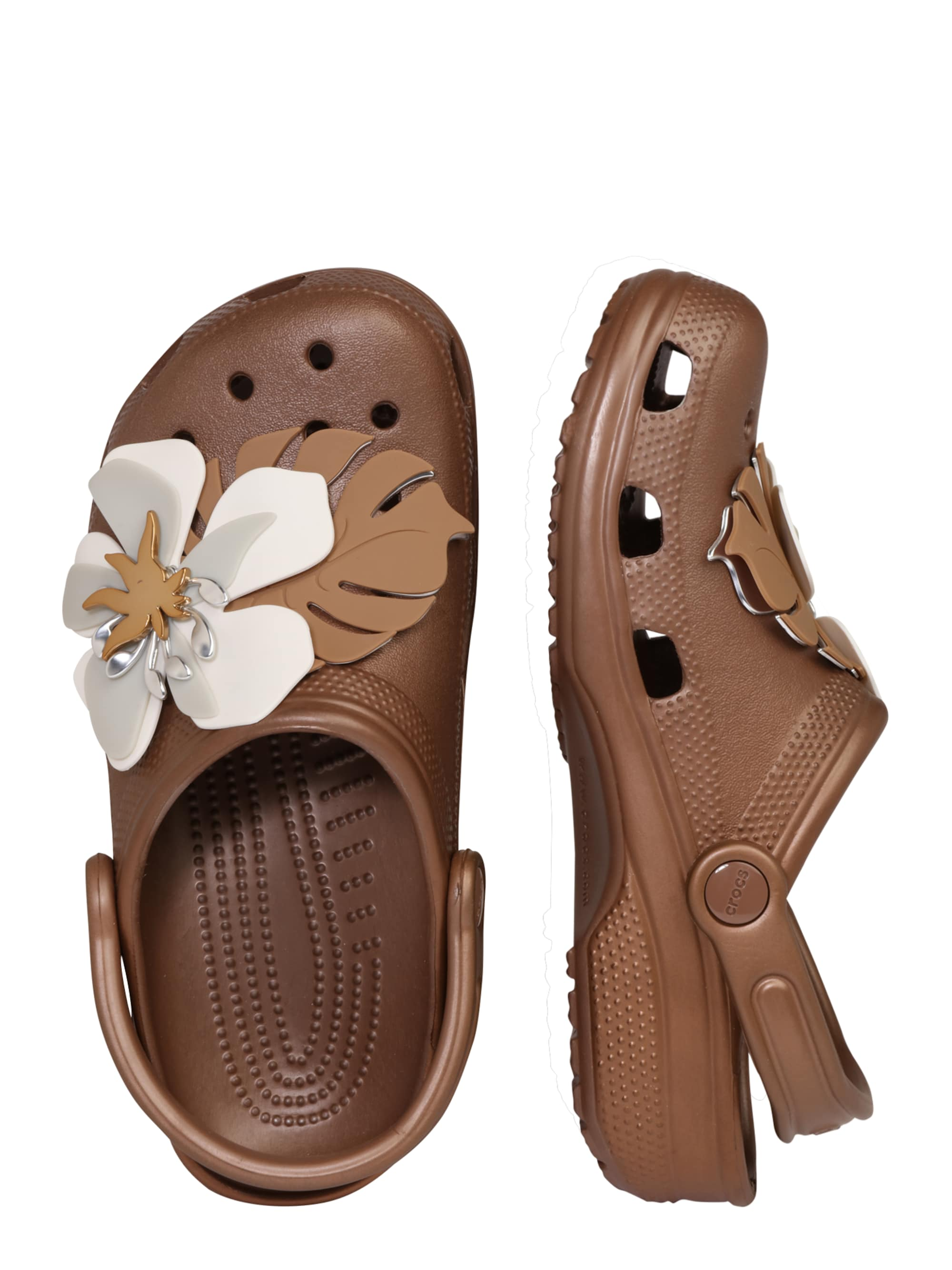 Crocs Chodaki 'Classic Botanical'  brązowy