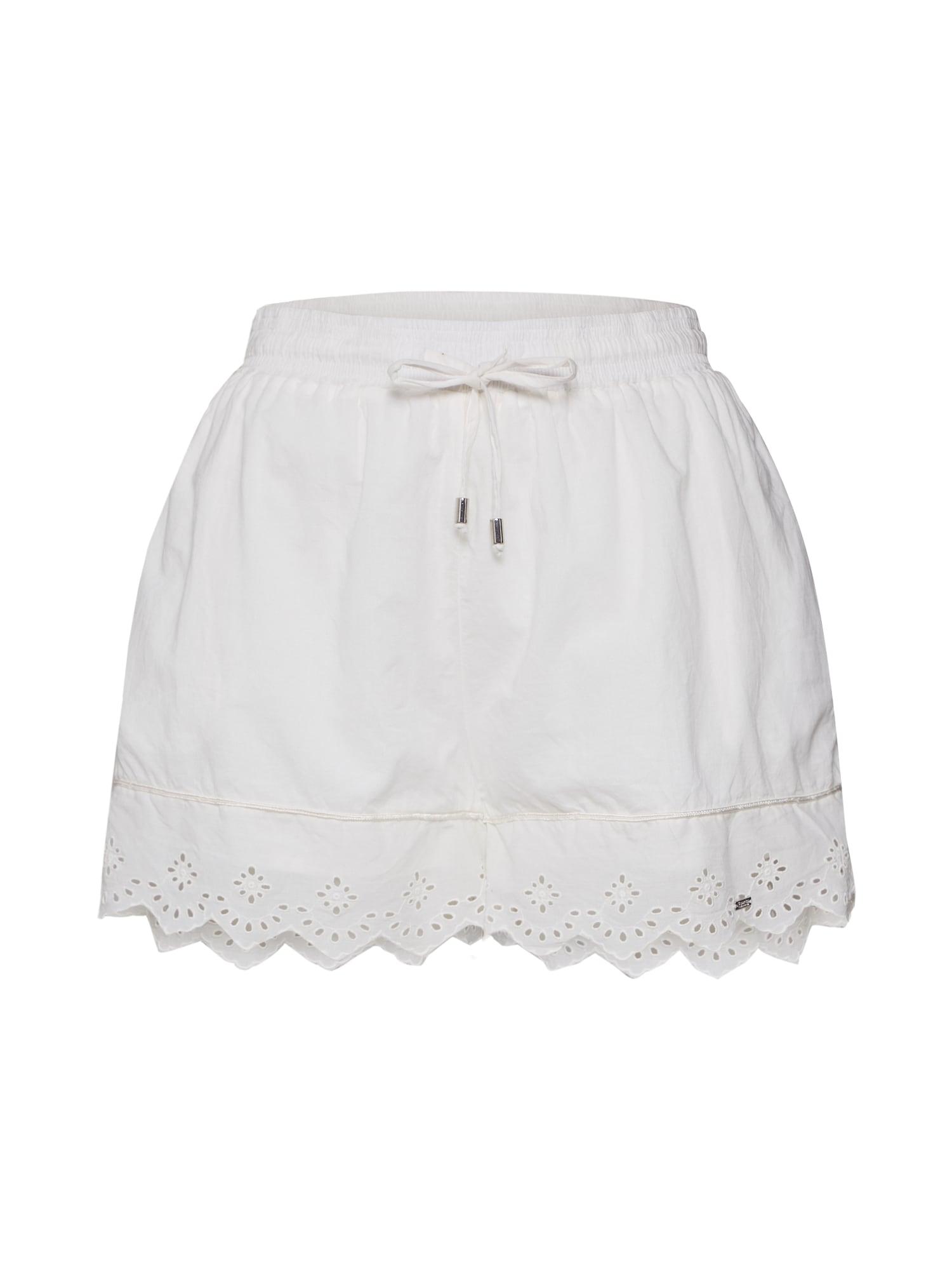Superdry Kalhoty  bílá