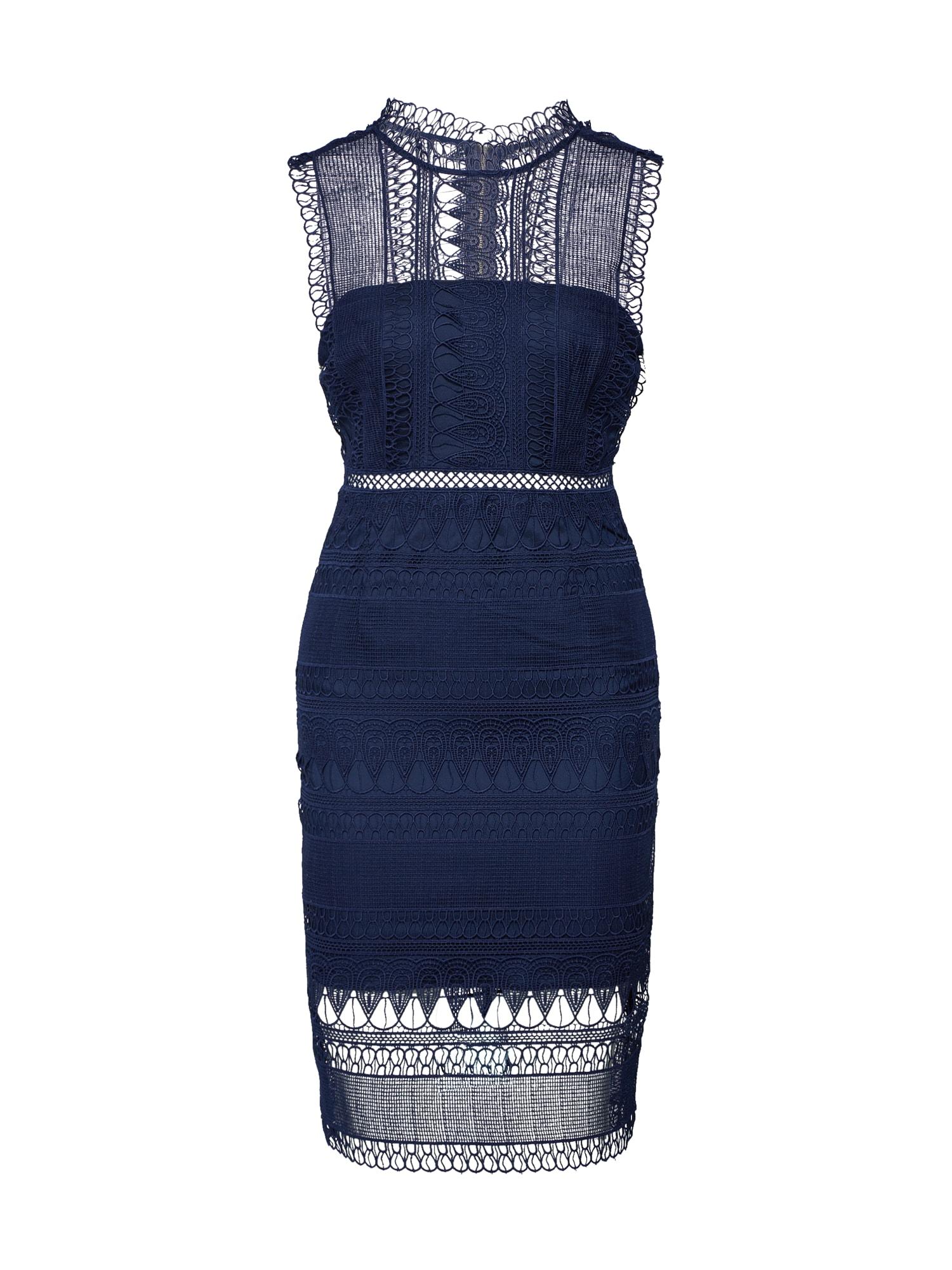 Koktejlové šaty modrá Bardot