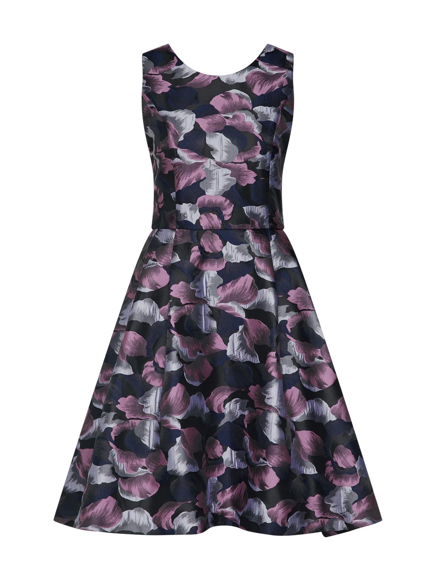 Koktejlové šaty šedá fialová černá SELECTED FEMME