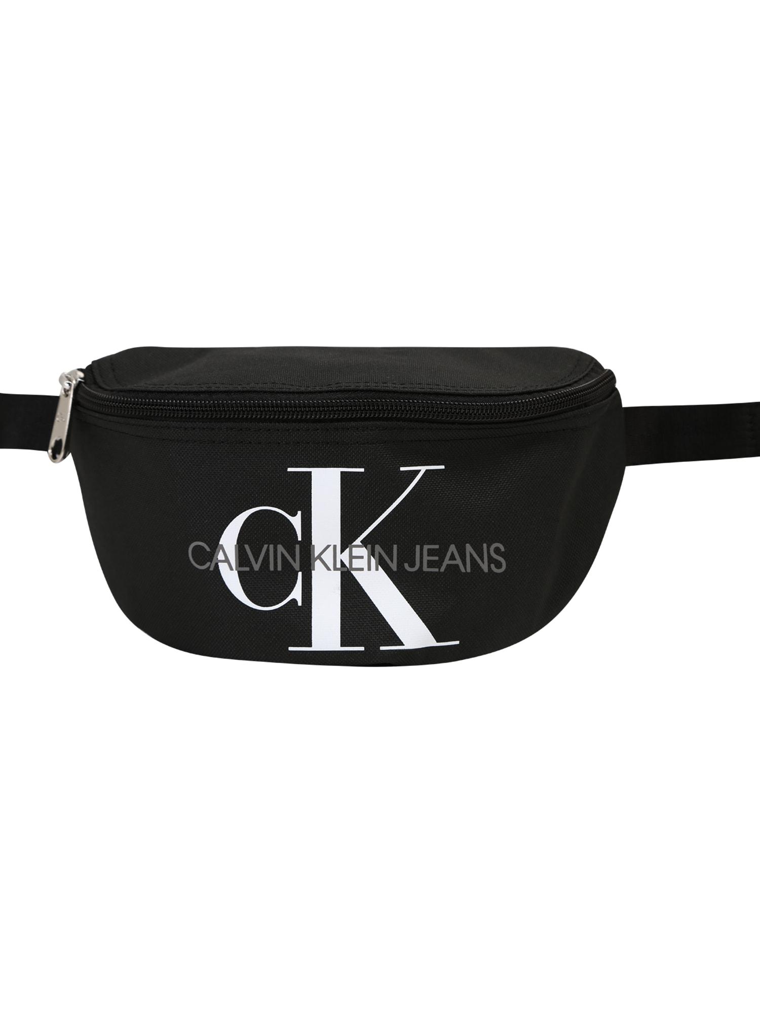 Calvin Klein Jeans Kabelky 'MONOGRAM WAIST PACK' čierna