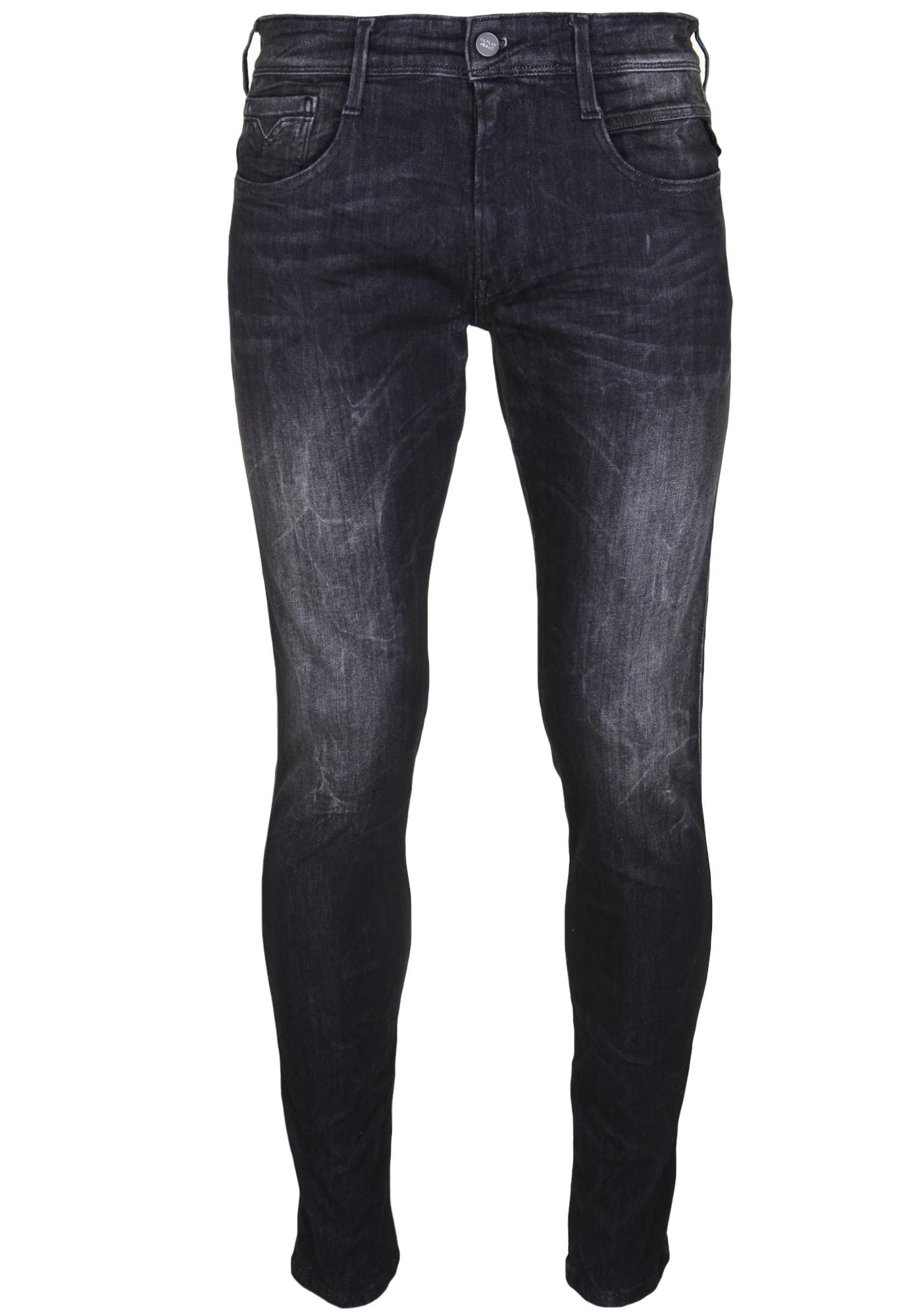 REPLAY Heren Jeans zwart