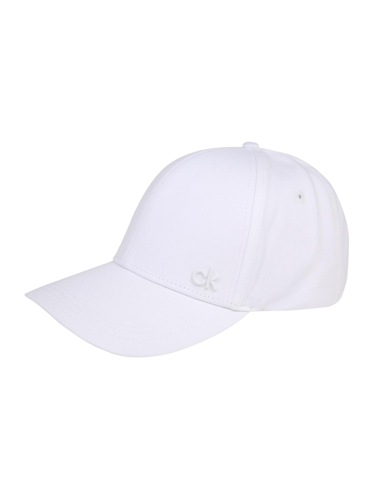 Čepice bílá Calvin Klein
