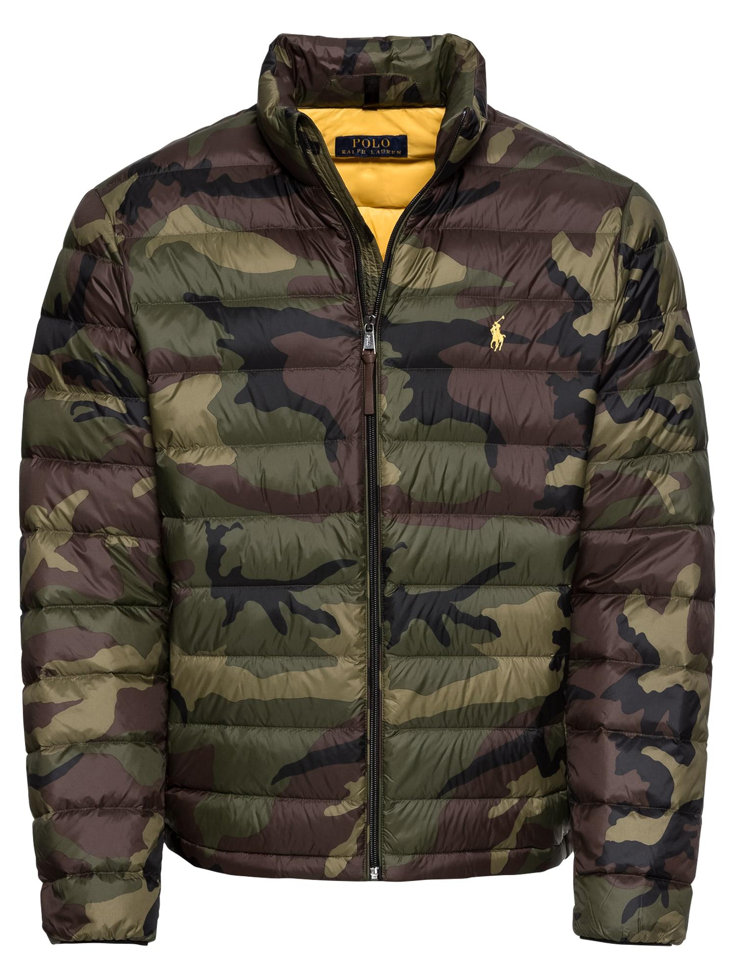 Zimní bunda LT WT CIRE NYLON-BLEEKER LW DOWN JKT hnědá zelená POLO RALPH LAUREN