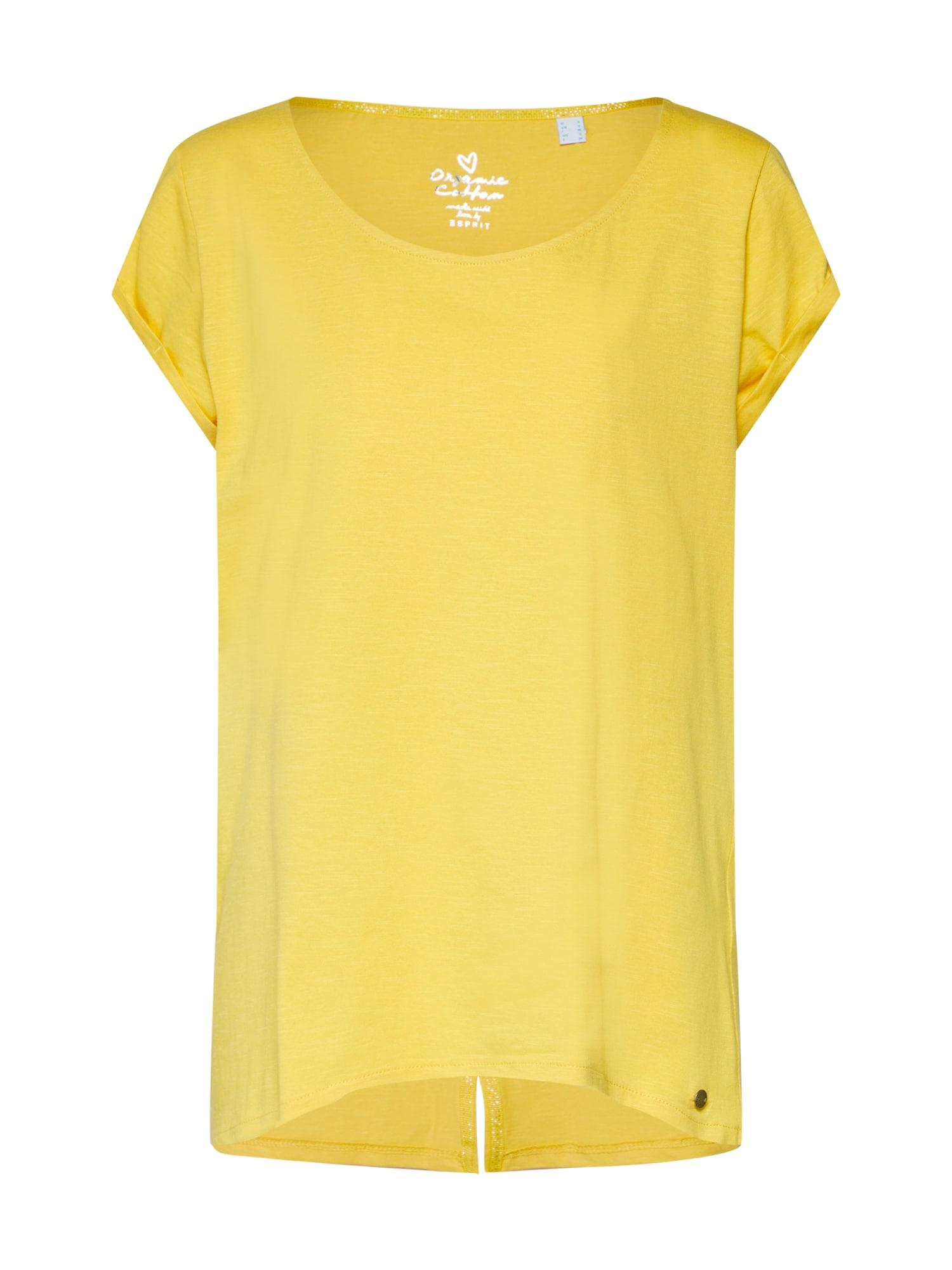 Tričko žlutá ESPRIT