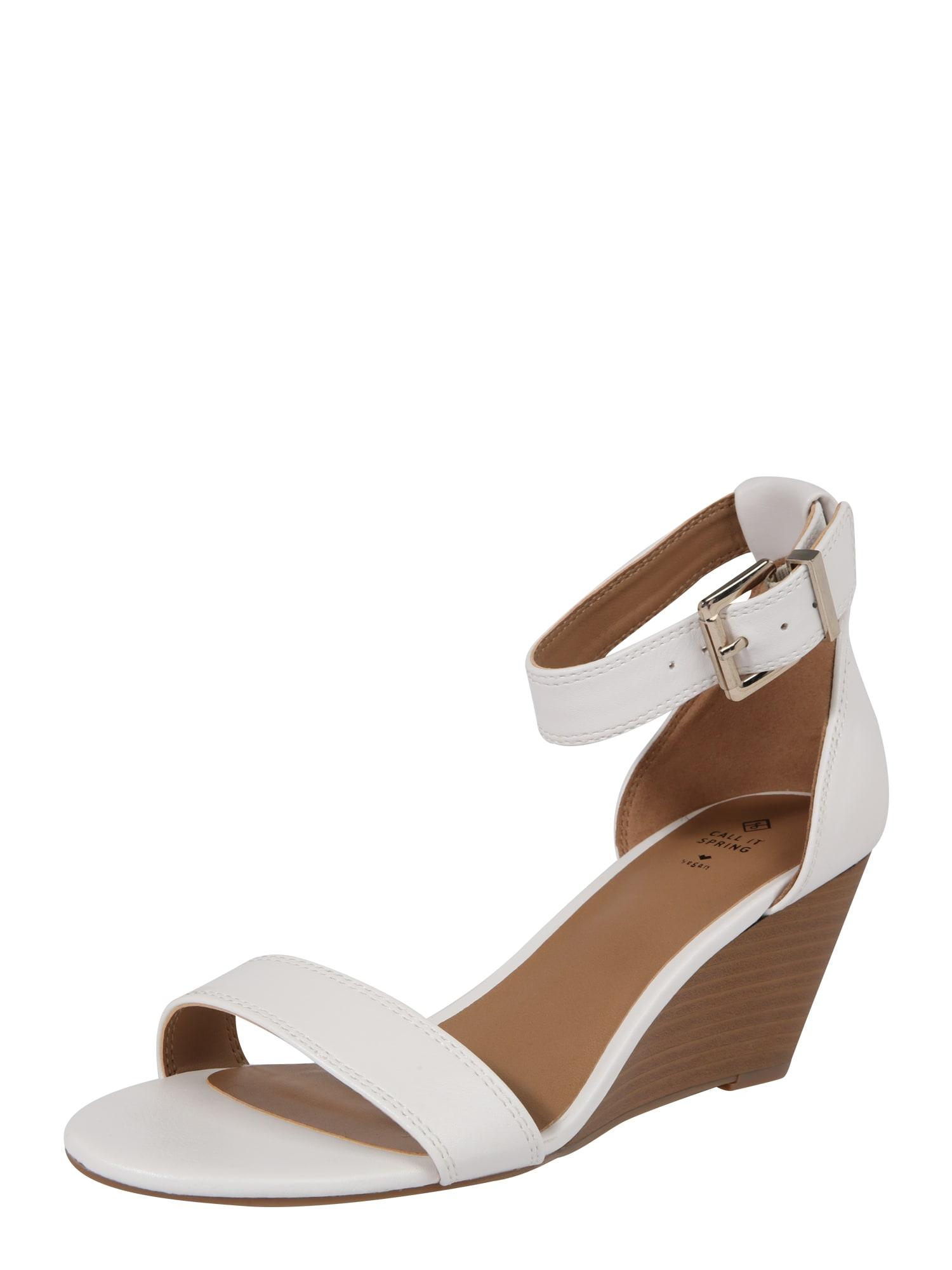 Sandály ABAUSSA hnědá bílá CALL IT SPRING