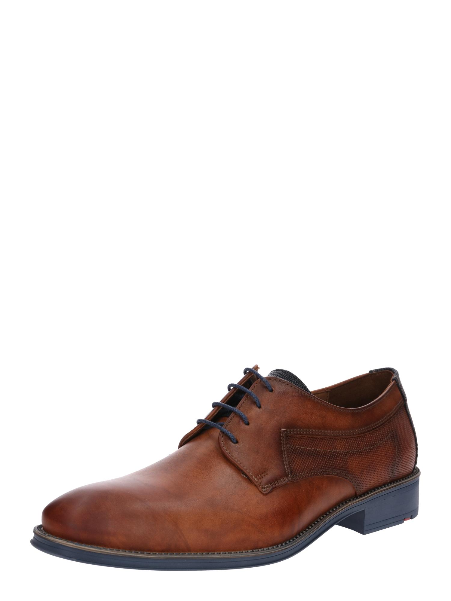 Šněrovací boty Genf modrá hnědá LLOYD