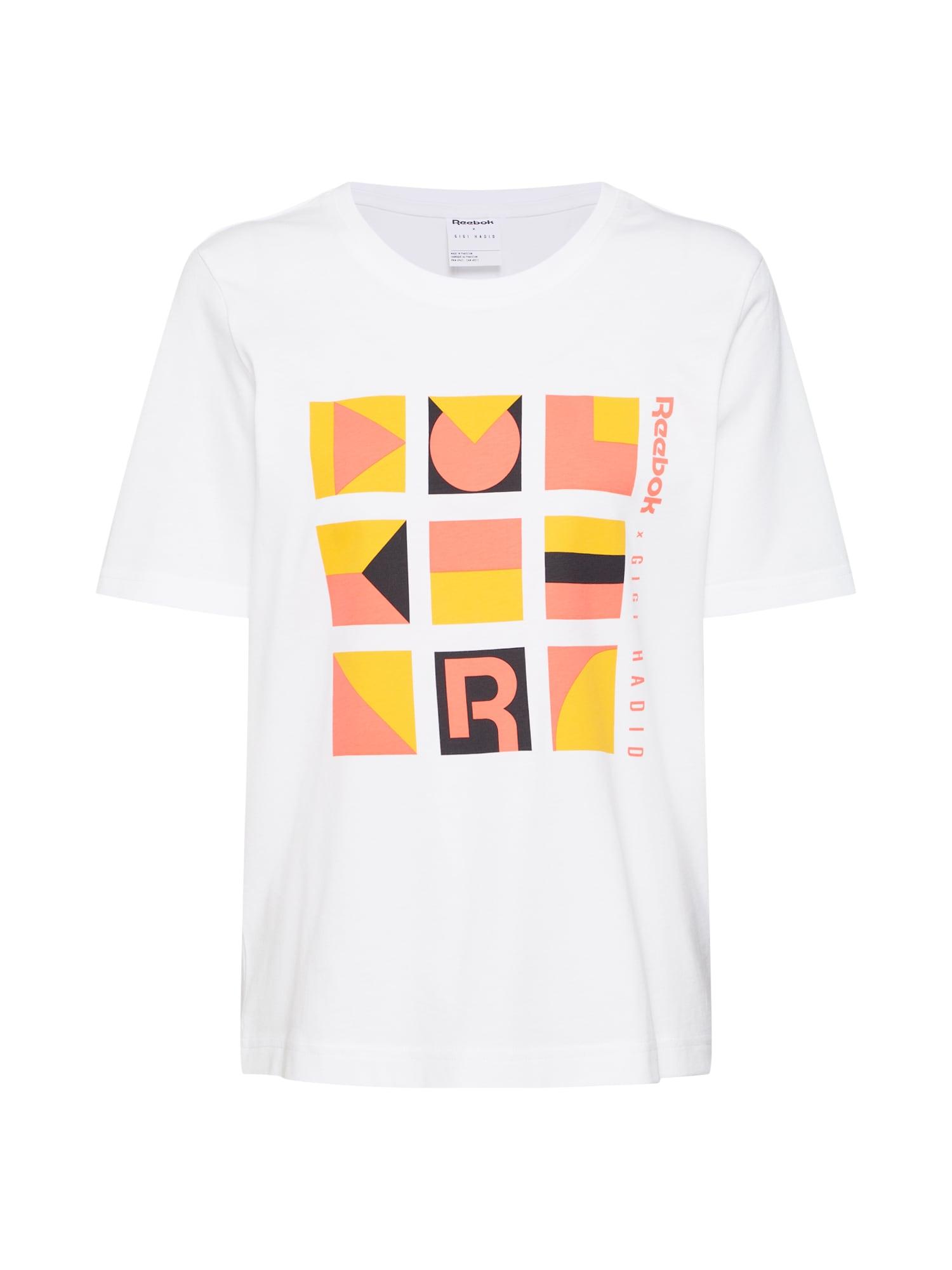 Tričko Gigi oranžová pastelově oranžová černá bílá Reebok Classic