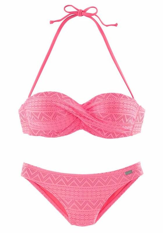 BUFFALO Bügel-Bandeau-Bikini in Häkeloptik jetztbilligerkaufen