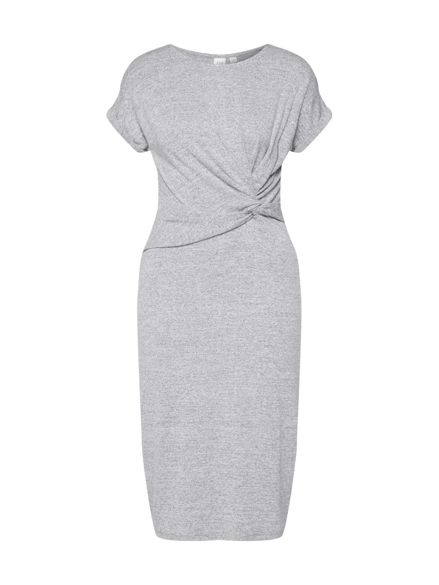 Letní šaty SSSTFSPNKNOTWSTMIDIMARL šedá GAP