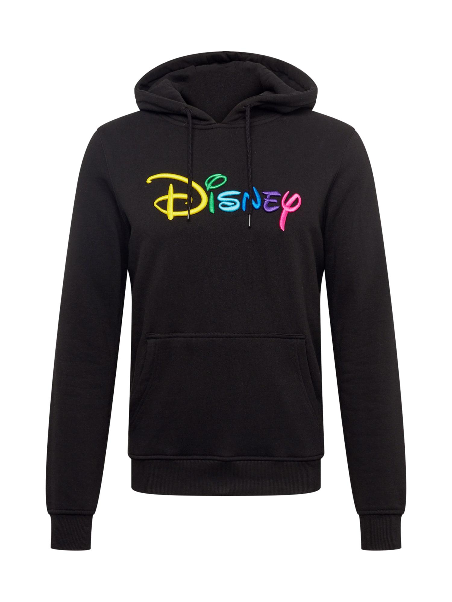 Mikina Disney Rainbow Logo EMB mix barev černá Mister Tee