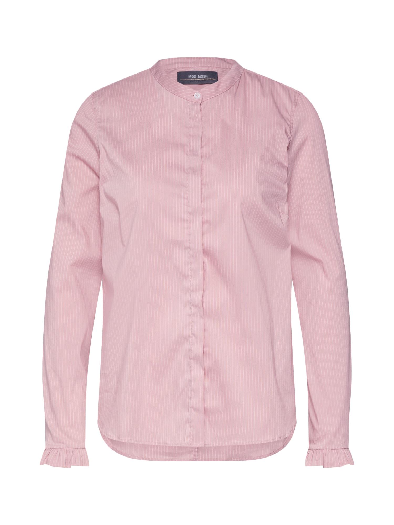 Halenka Mattie Fine Stripe Shirt růže MOS MOSH