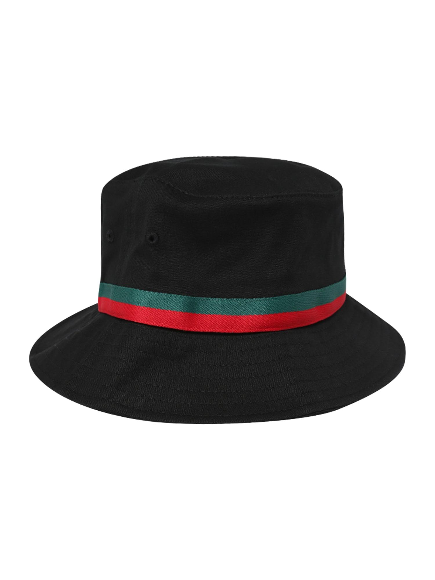 Klobouk Bucket zelená červená černá Flexfit