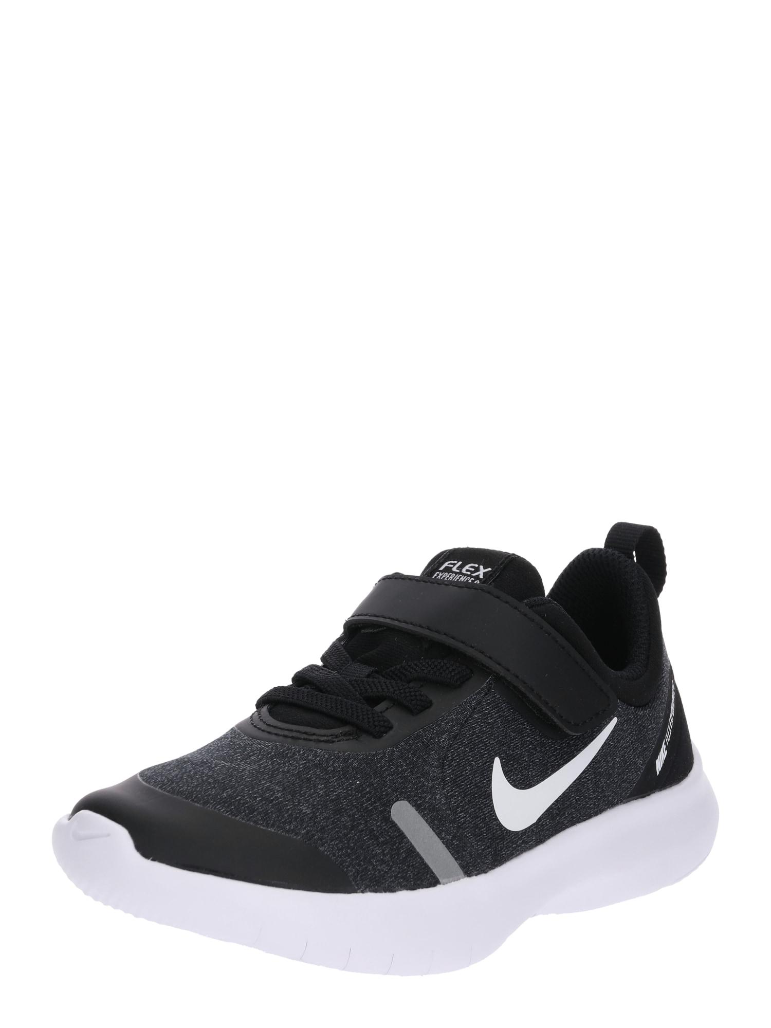 NIKE Sportovní boty 'Flex Experience RN 8'  černá / stříbrná / bílá