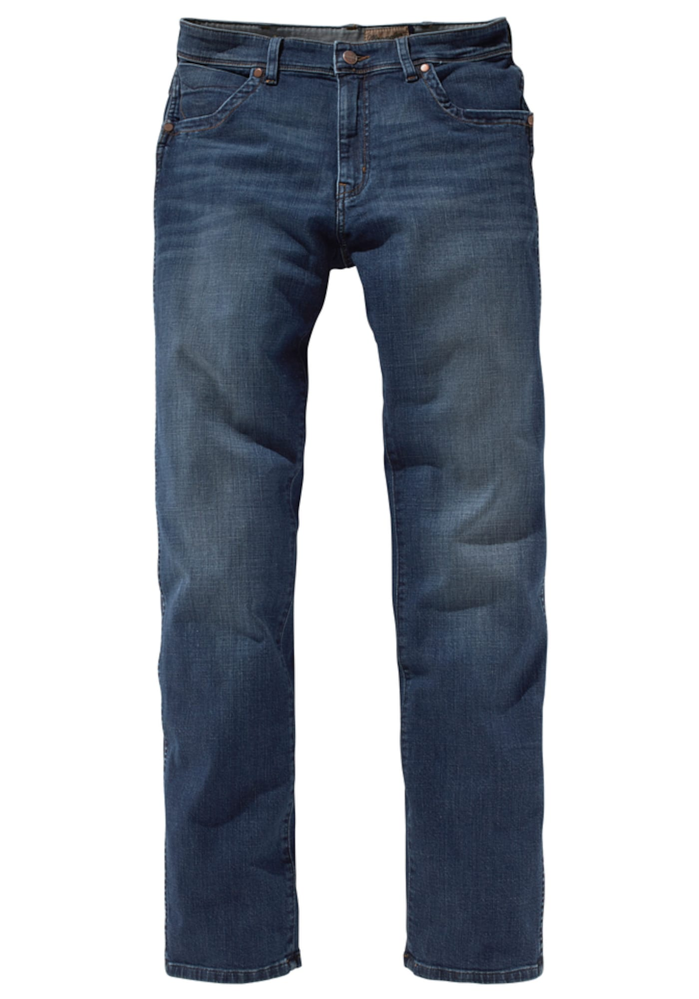 WRANGLER Heren Jeans Texas Stretch blauw denim