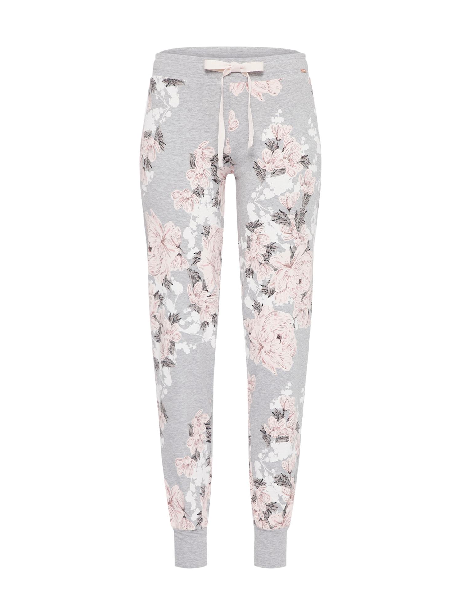Pyžamové kalhoty šedá starorůžová Skiny