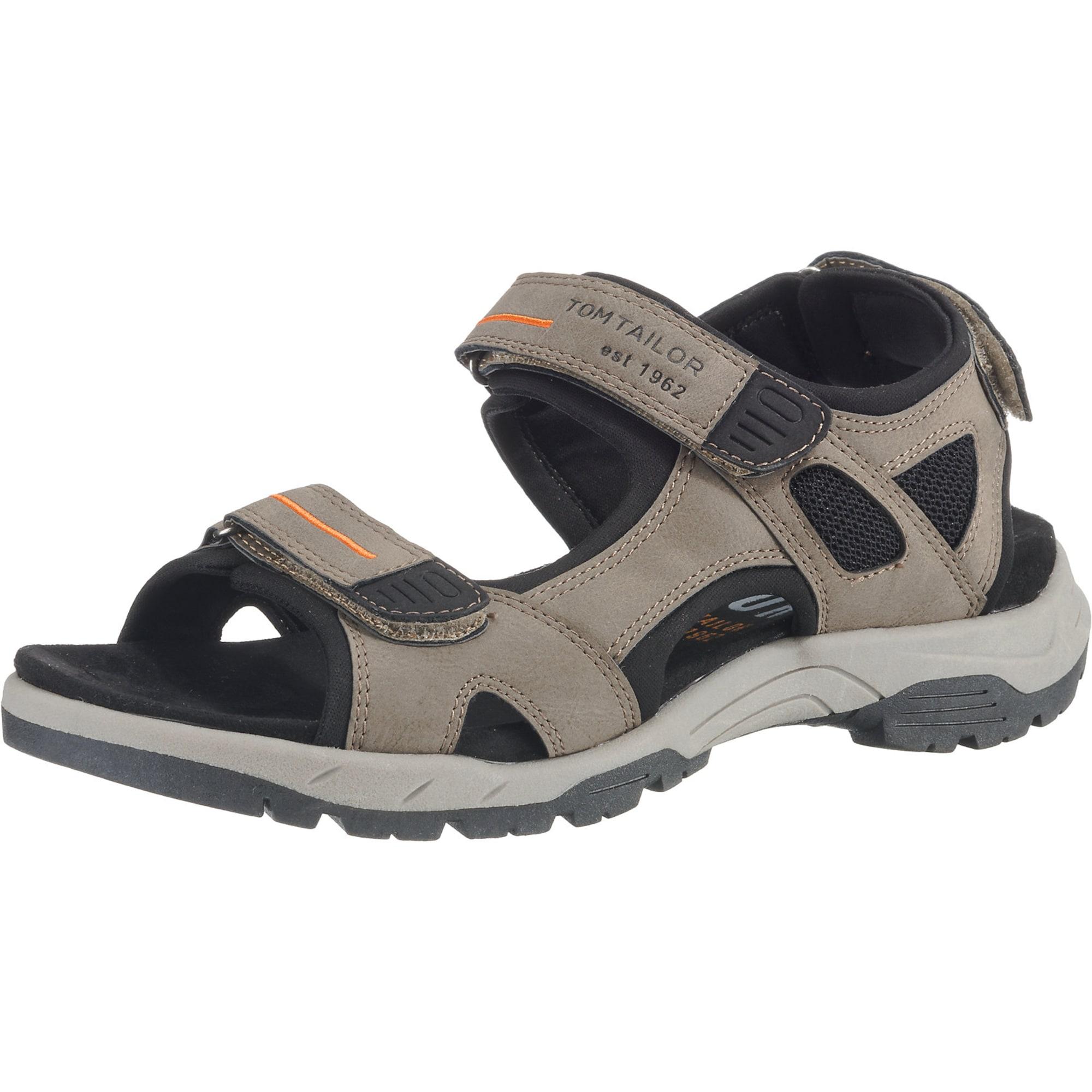 Trekingové sandály barvy bláta černá TOM TAILOR