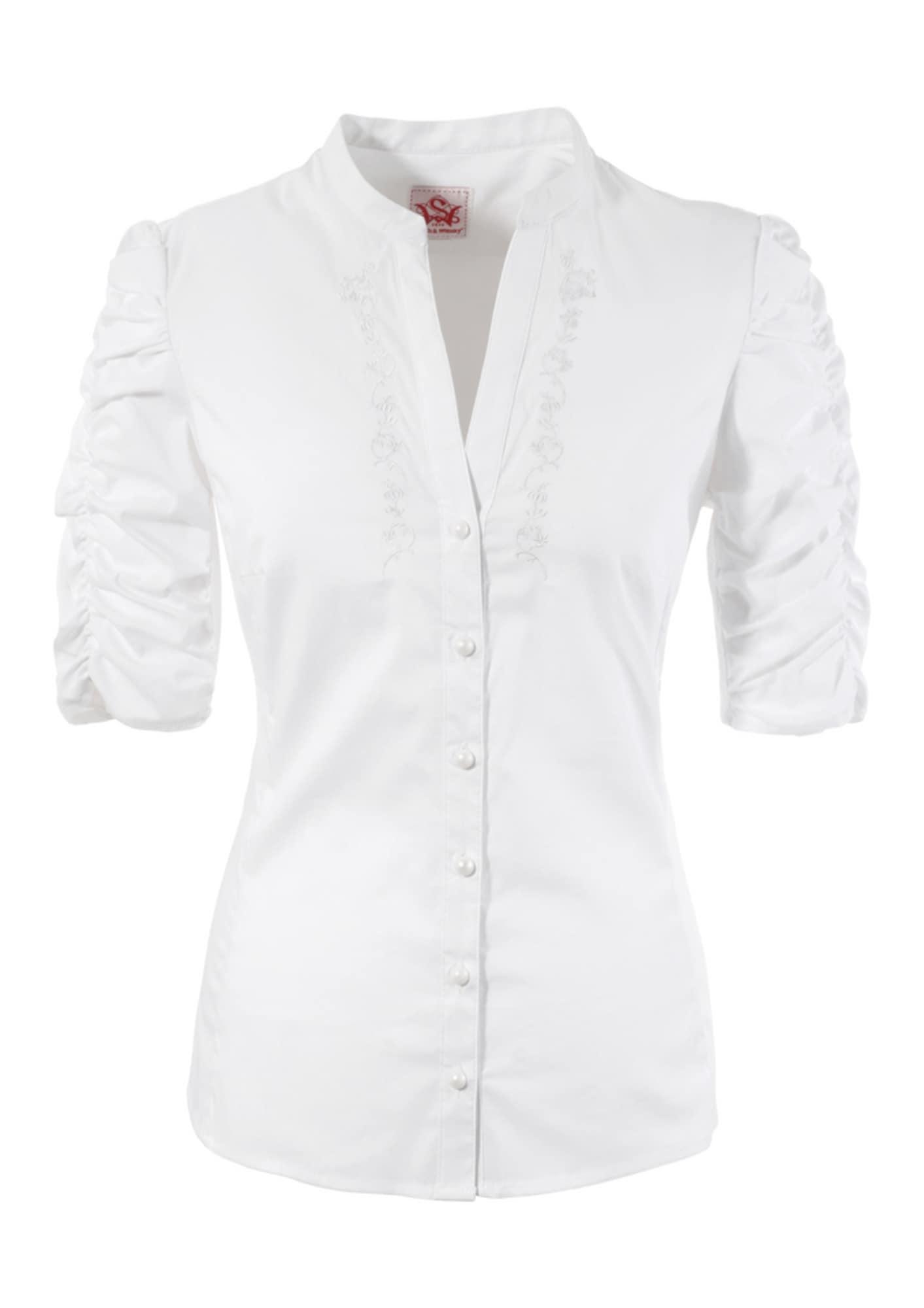 Trachtenbluse Damen mit Stickerei | Bekleidung > Blusen > Trachtenblusen | Weiß | SPIETH & WENSKY