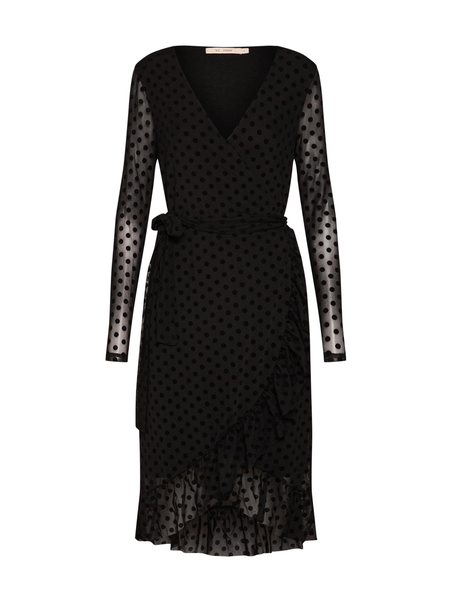 Šaty Ines Dress černá RUE De FEMME