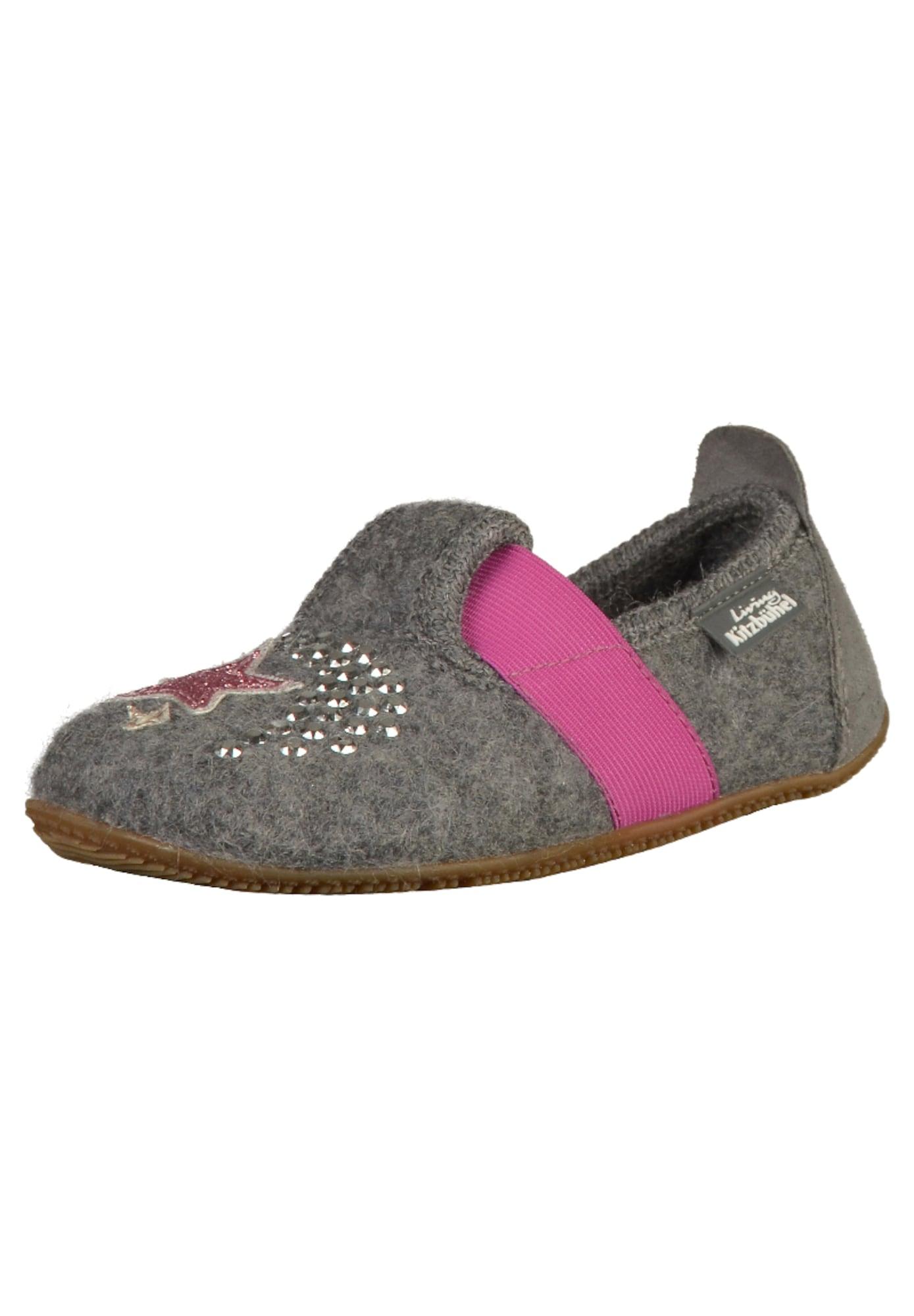 Pantofle šedá pink Living Kitzbühel