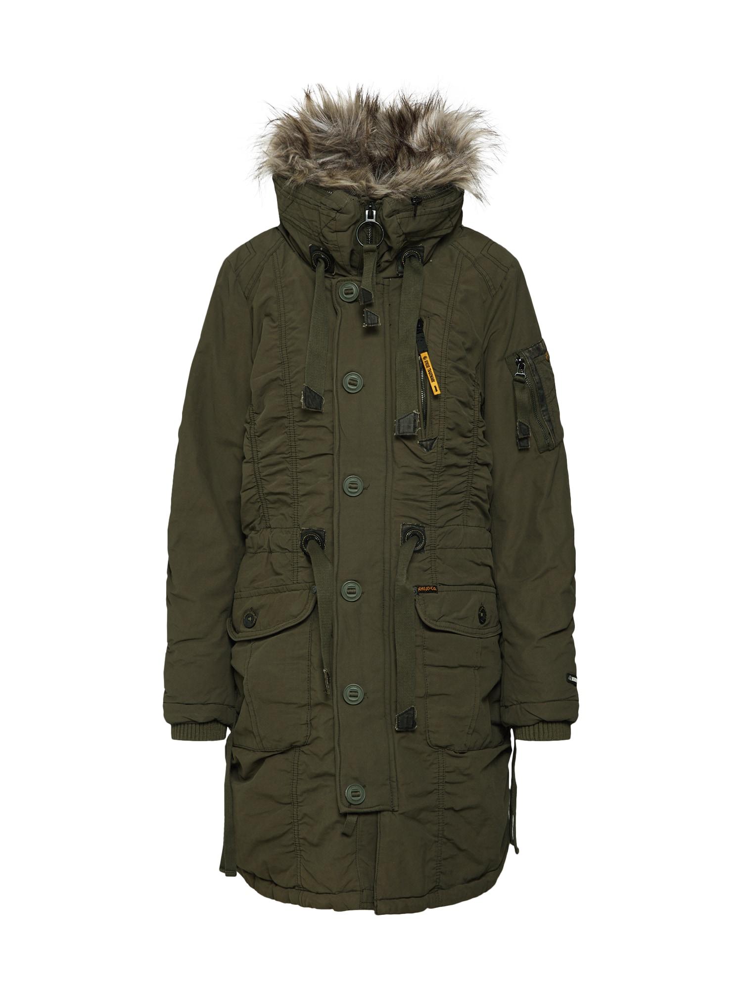 Zimní kabát STEFANIA khaki Khujo