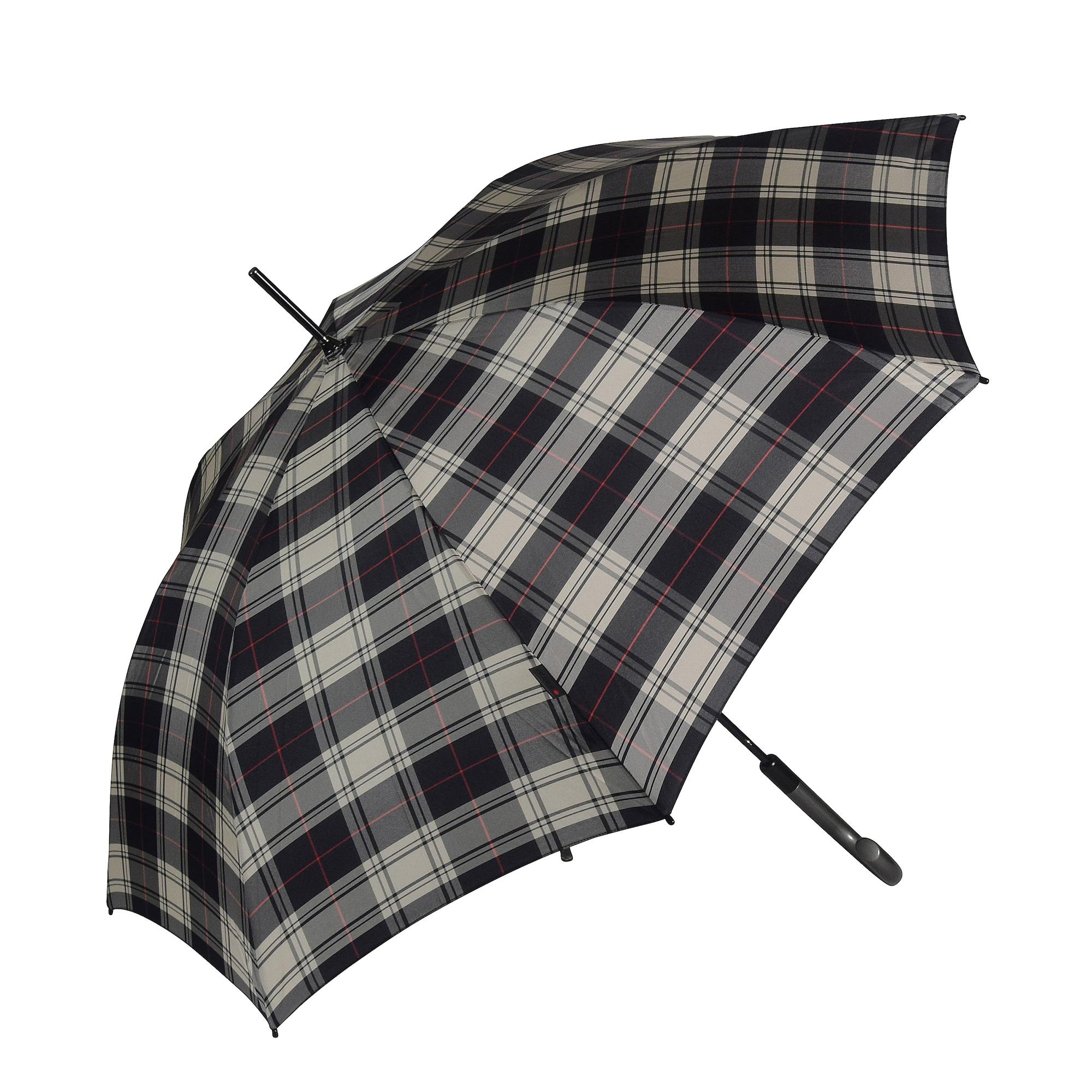 Stockschirm 'T.703' 88 cm | Accessoires > Regenschirme > Stockschirme | Beige - Grau - Rot - Schwarz | knirps
