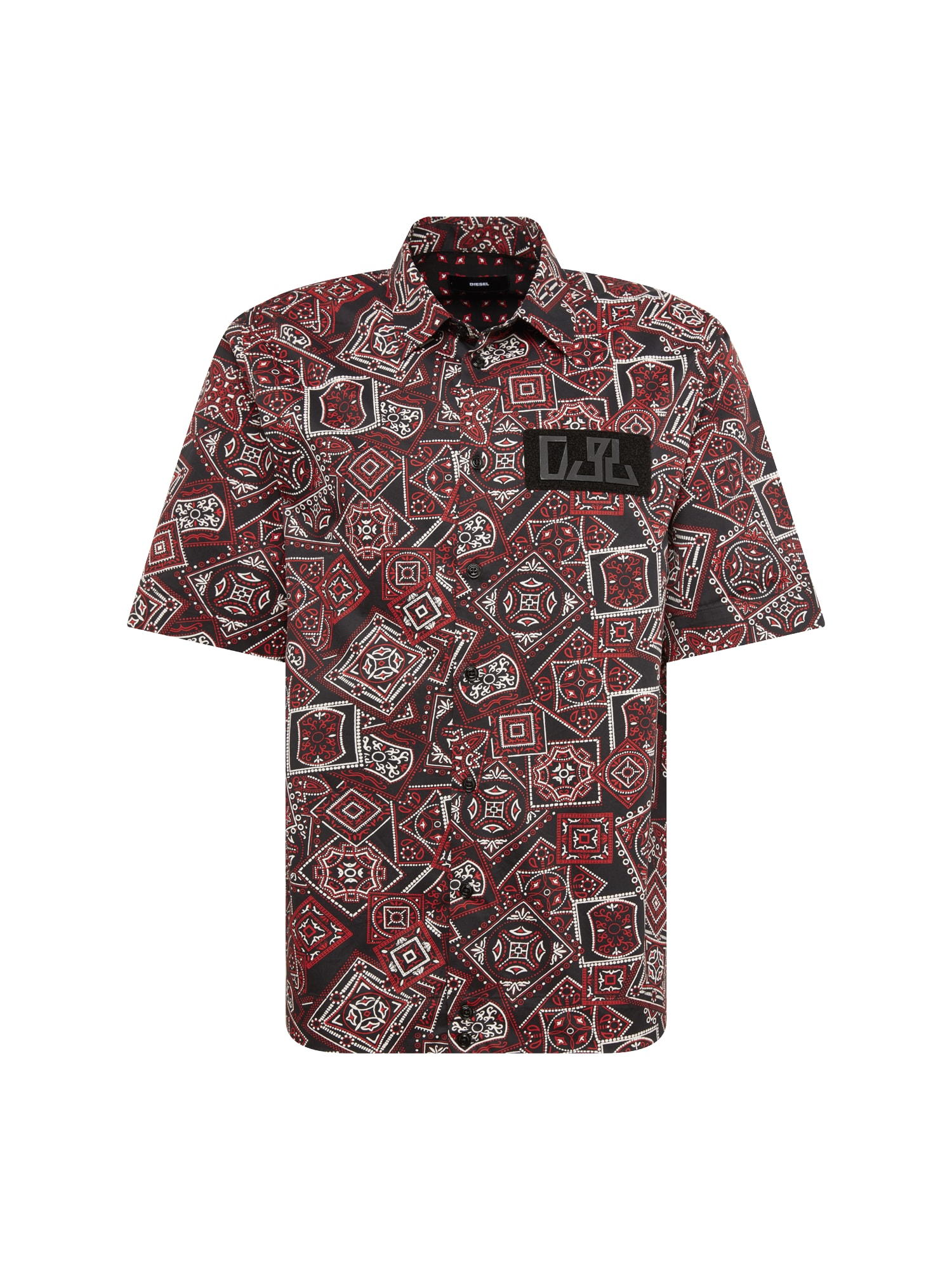 Košile S-FRY-NP HEMD mix barev bordó DIESEL