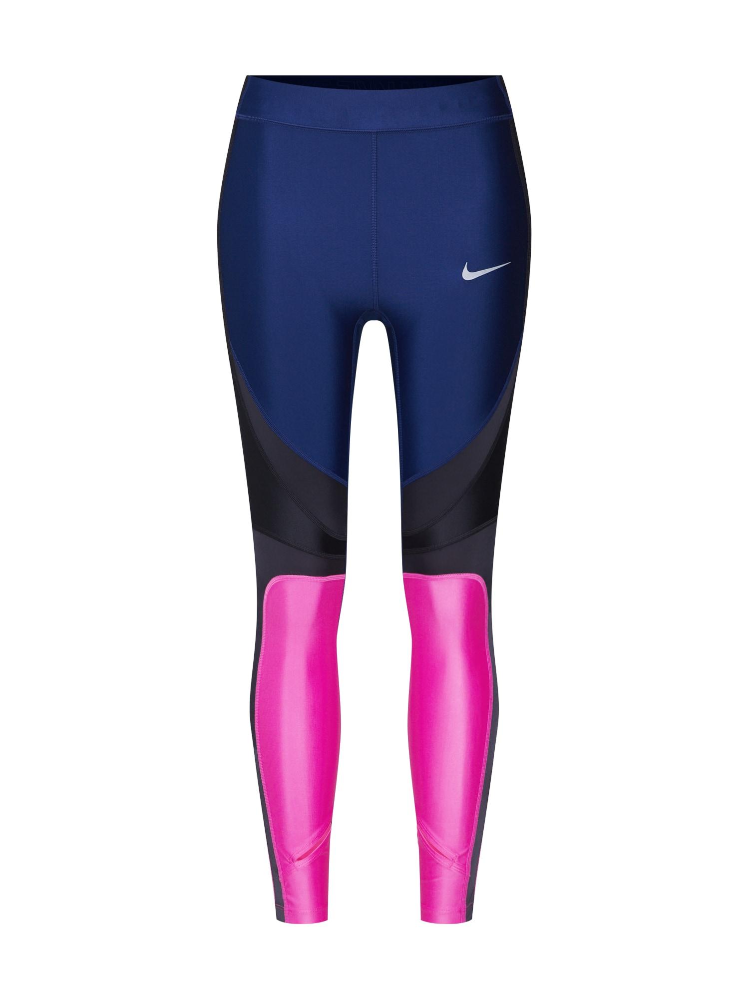 Sportovní kalhoty W NK PWR SPEED TGHT 7_8 CL tmavě modrá magenta NIKE