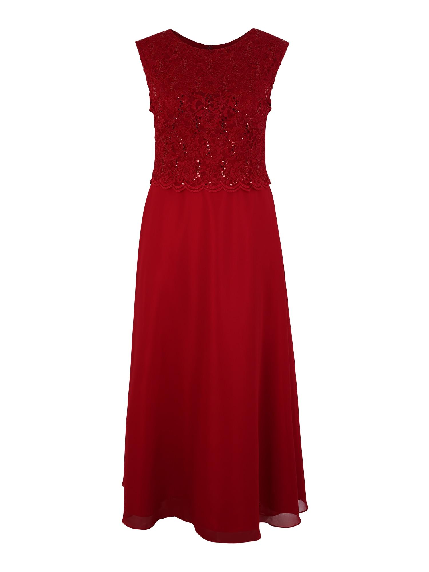 Společenské šaty červená SWING Curve