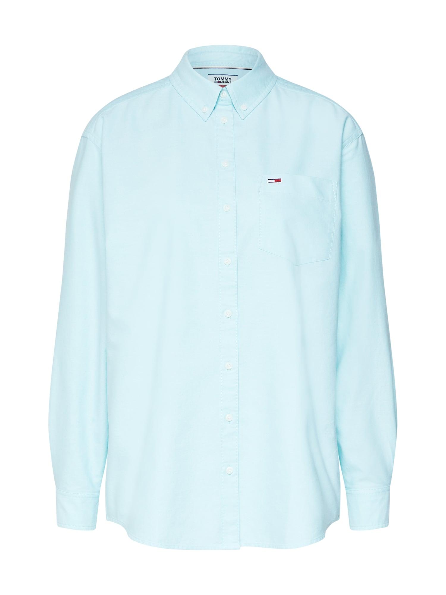 Halenka TJW TOMMY CLASSICS SHIRT aqua modrá Tommy Jeans