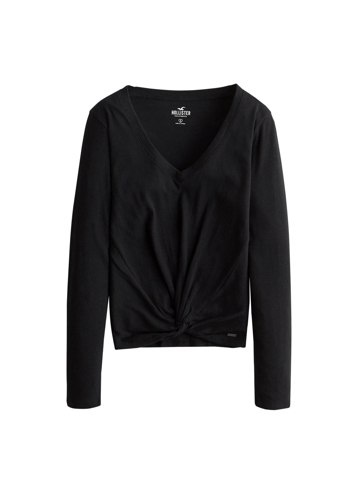HOLLISTER Tričko 'LETTUCE'  černá