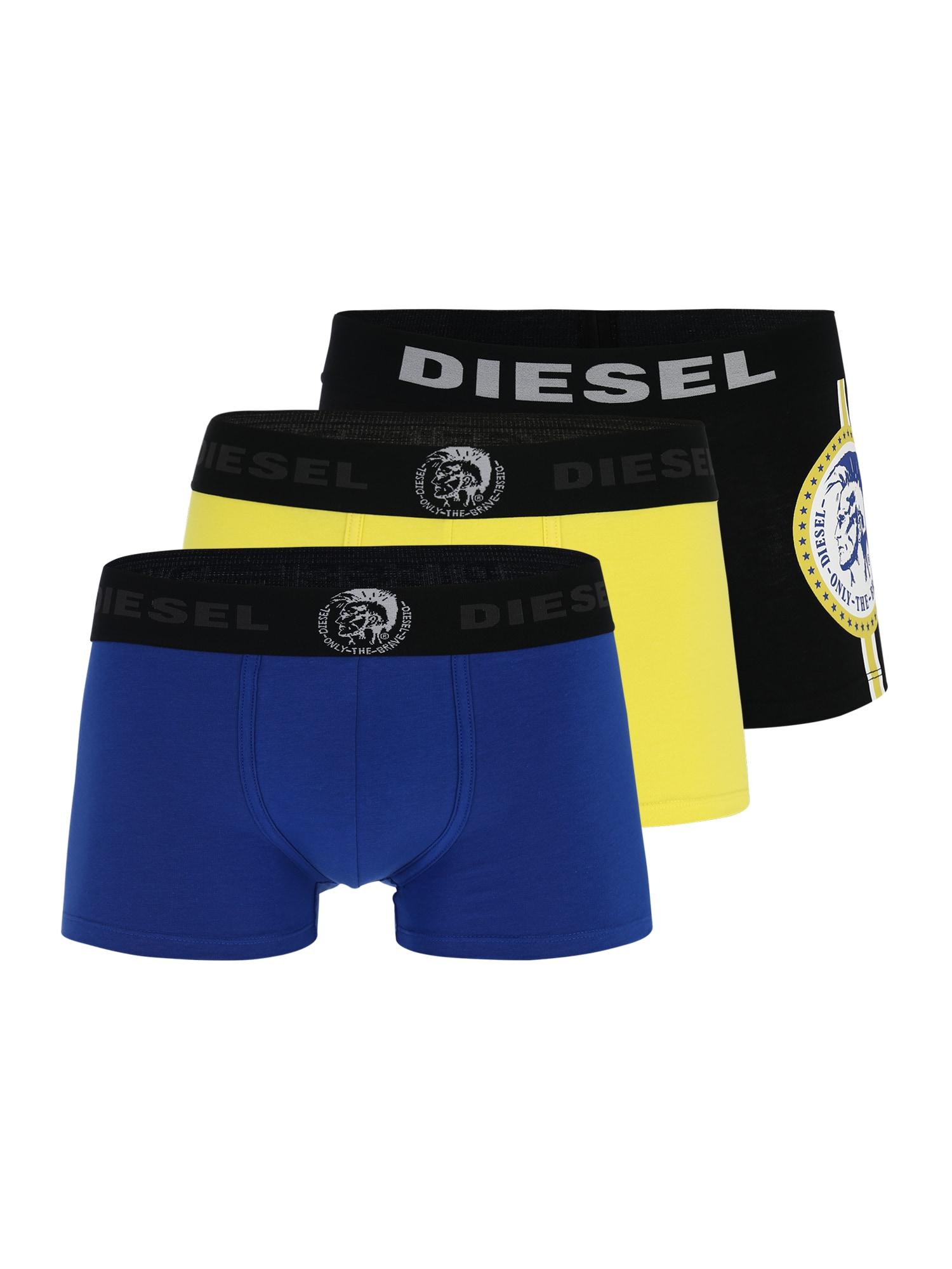Boxerky modrá žlutá černá DIESEL