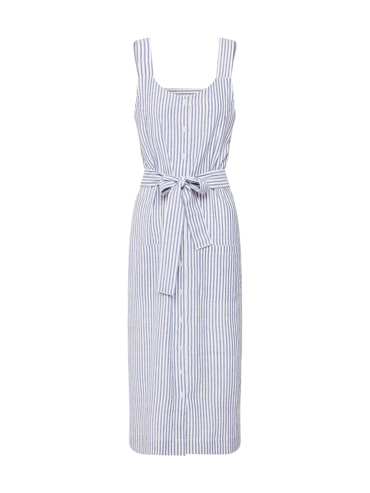 Letní šaty KAbetty Dress krémová modrá Kaffe