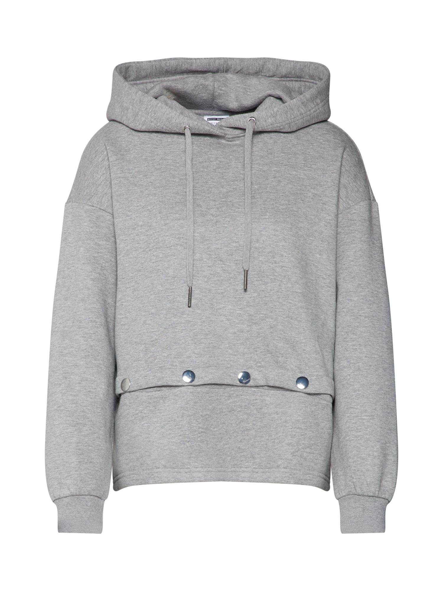 Noisy May, Dames Sweatshirt 'NMLEIA L/S HOODED SWEAT', lichtgrijs
