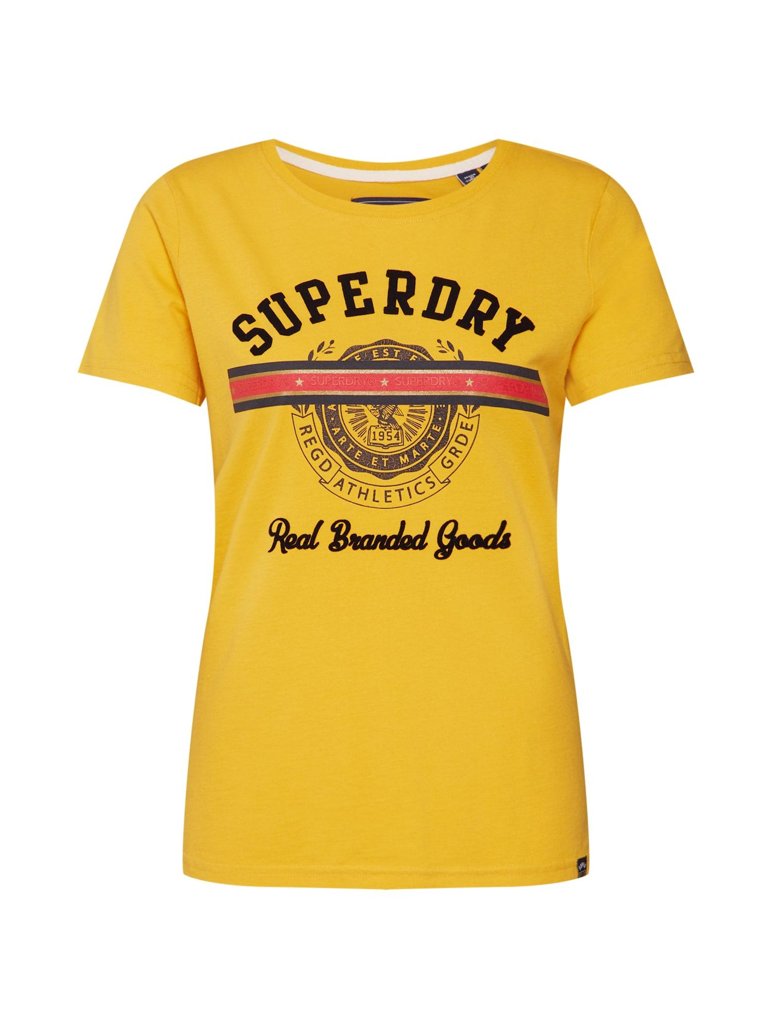 Tričko zlatě žlutá Superdry